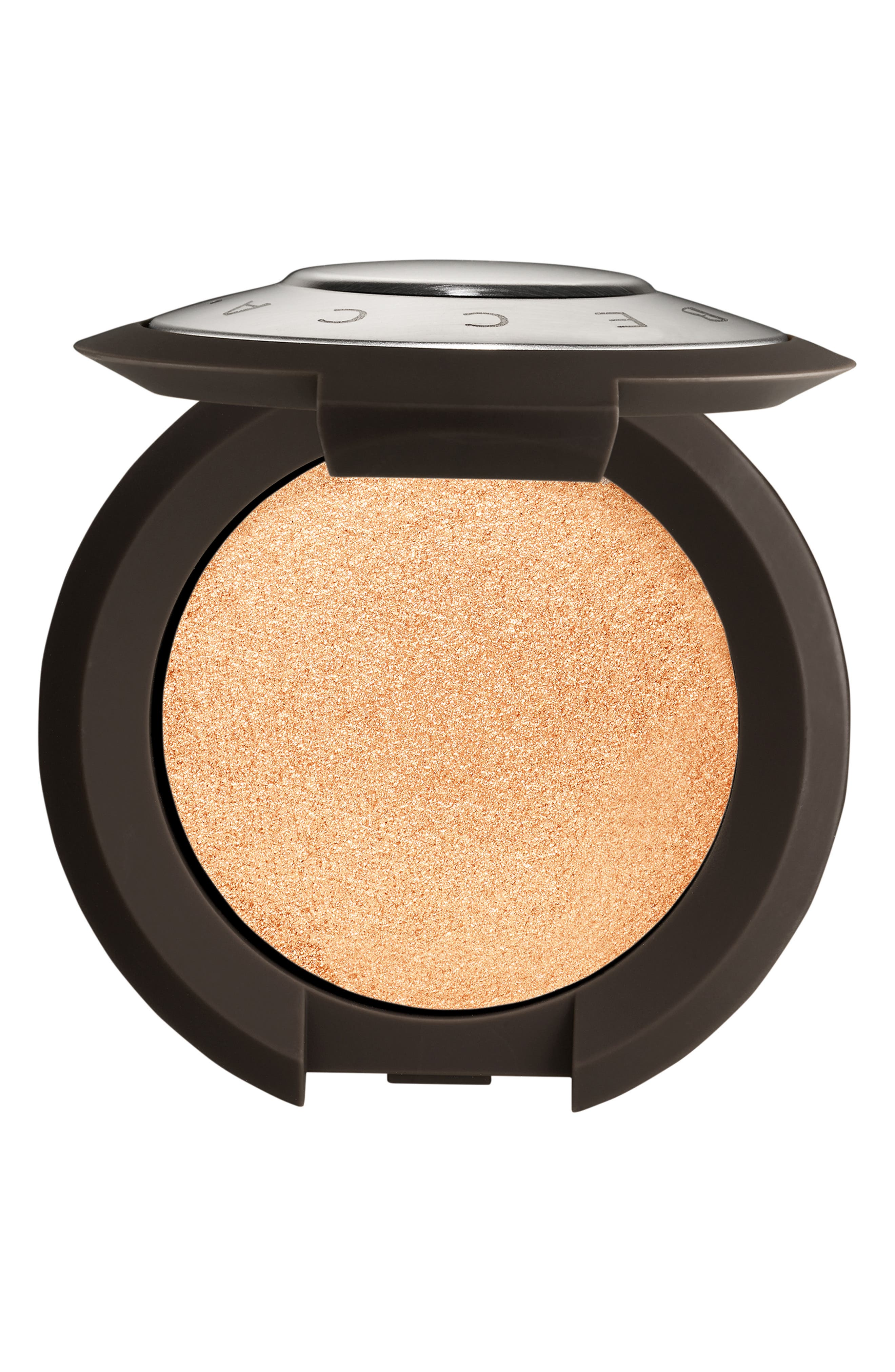 BECCA COSMETICS,                             BECCA Shimmering Skin Perfector Pressed Highlighter,                             Main thumbnail 1, color,                             CHAMPAGNE POP / MINI