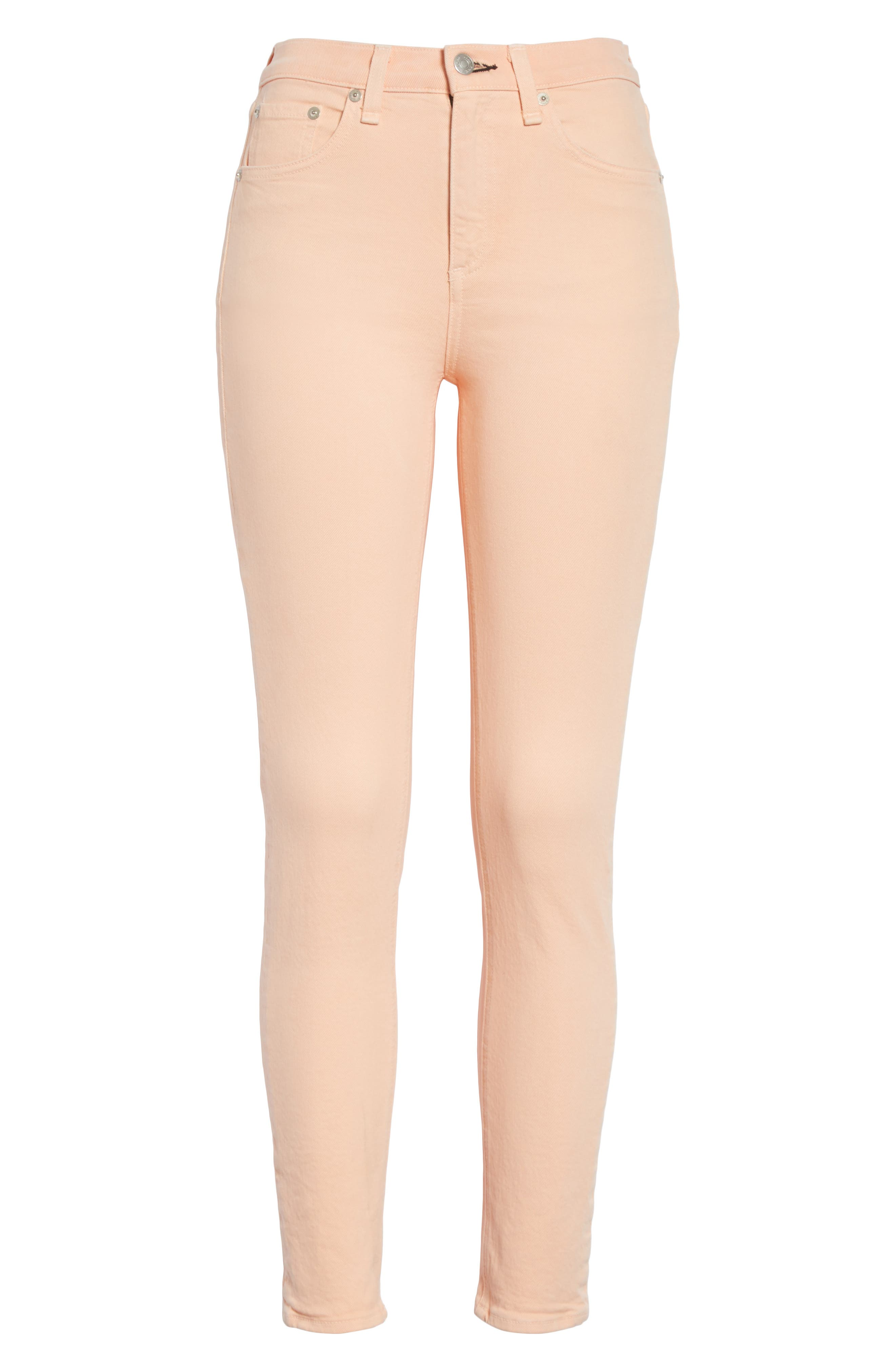 High Waist Ankle Skinny Jeans,                             Alternate thumbnail 6, color,                             651