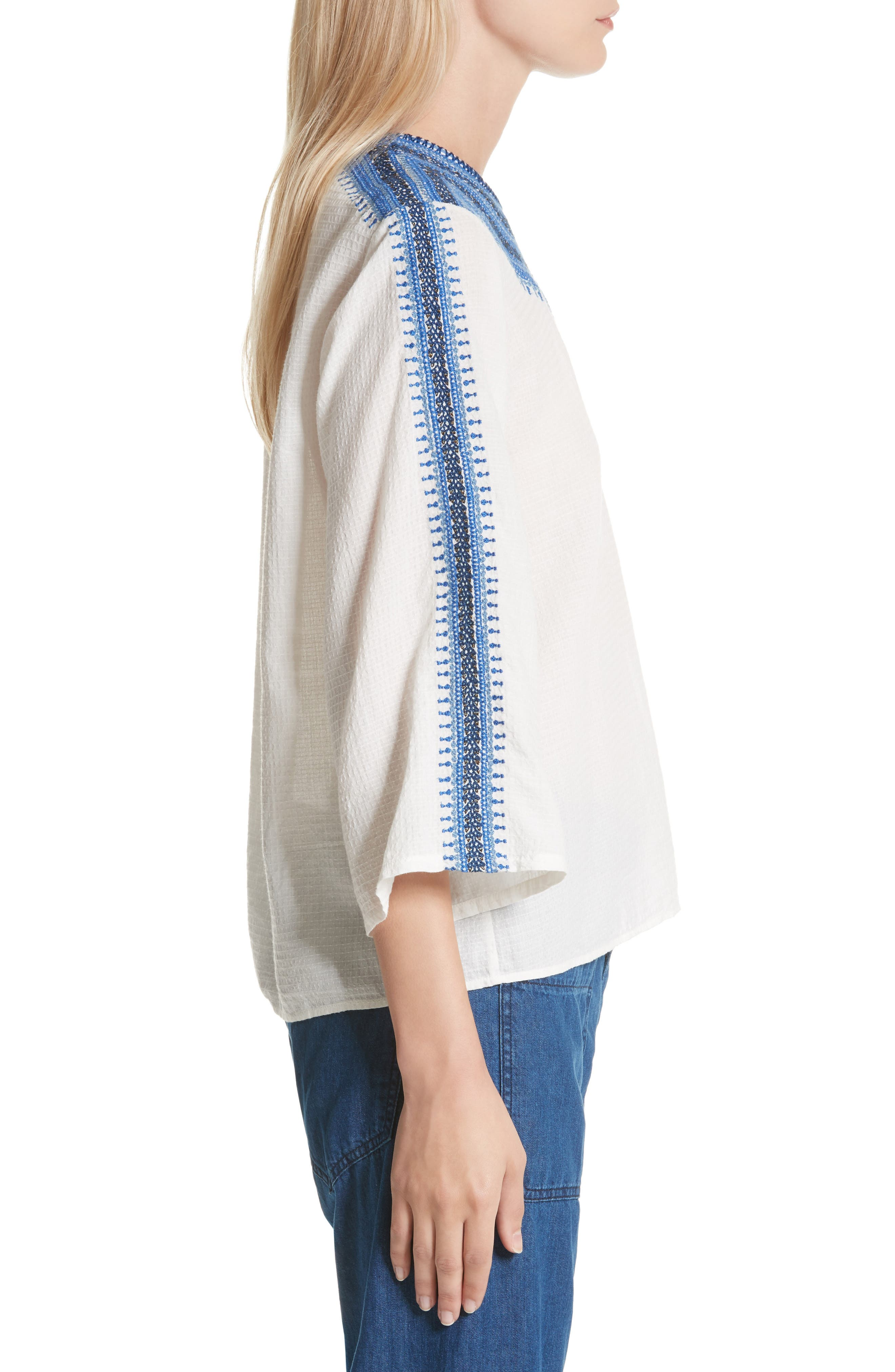 The Oasis Embroidered Top,                             Alternate thumbnail 3, color,