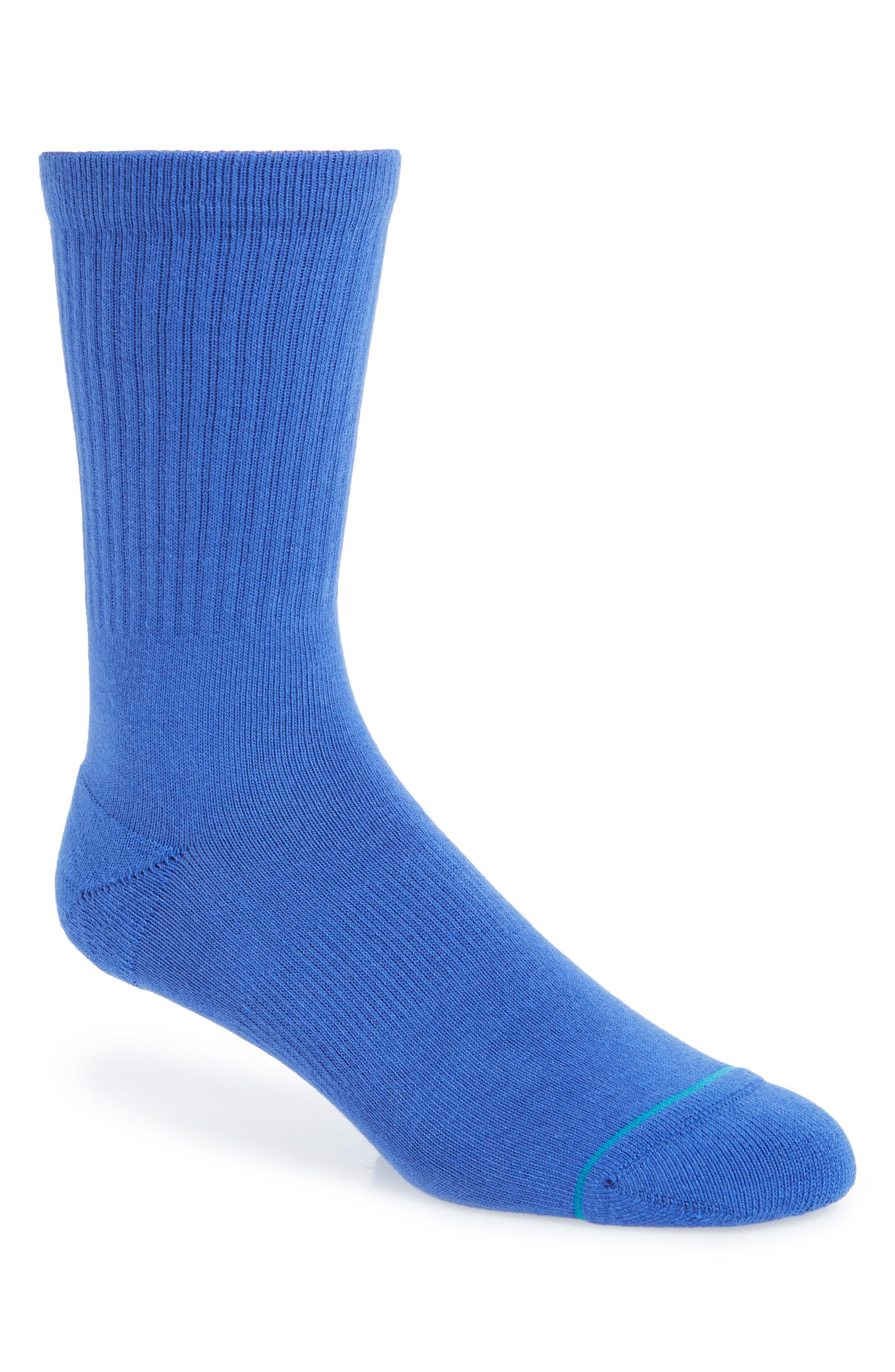 STANCE,                             'Icon' Athletic Socks,                             Main thumbnail 1, color,                             ROYAL