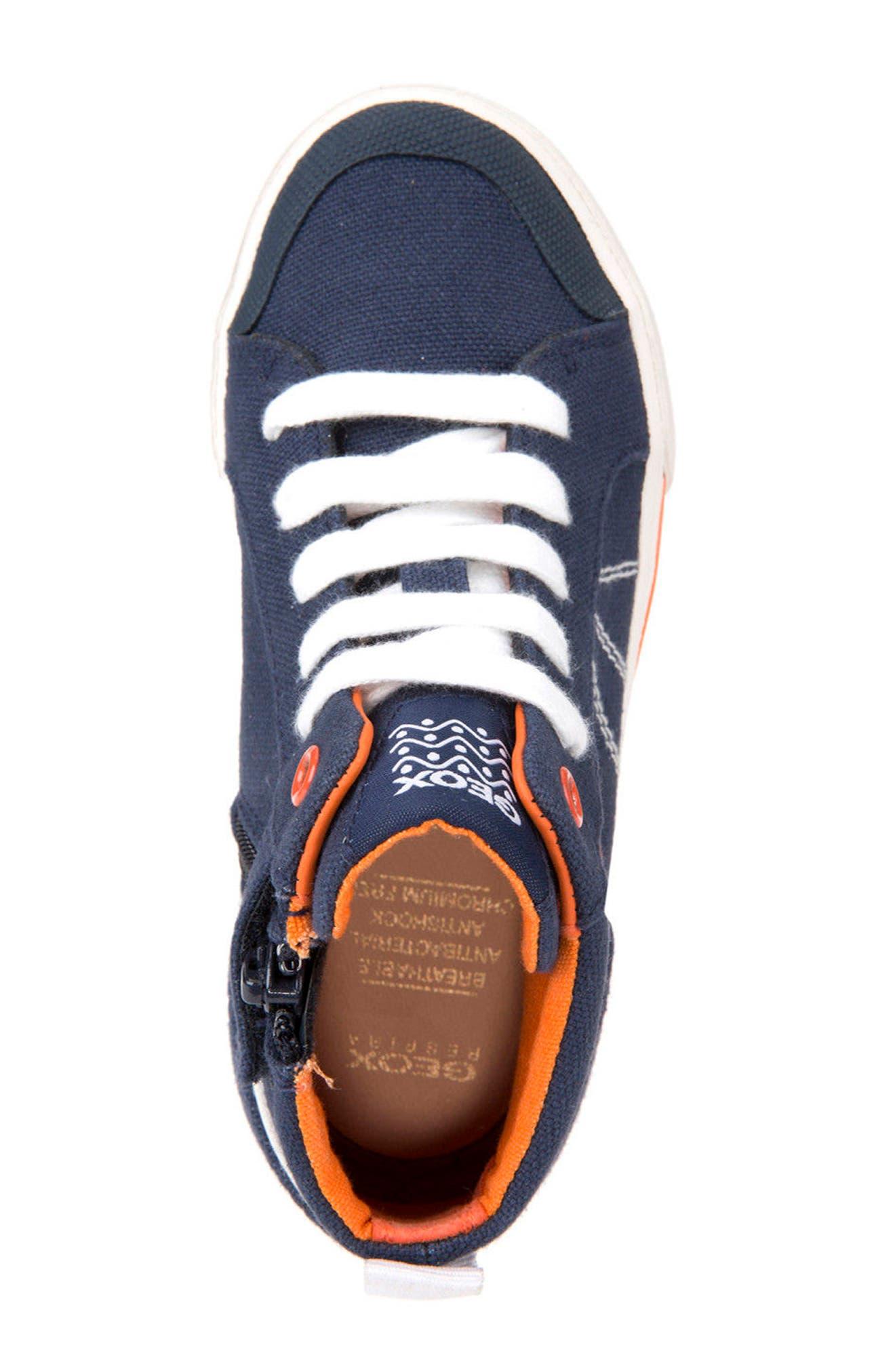 Kilwi Zip High Top Sneaker,                             Alternate thumbnail 5, color,                             402