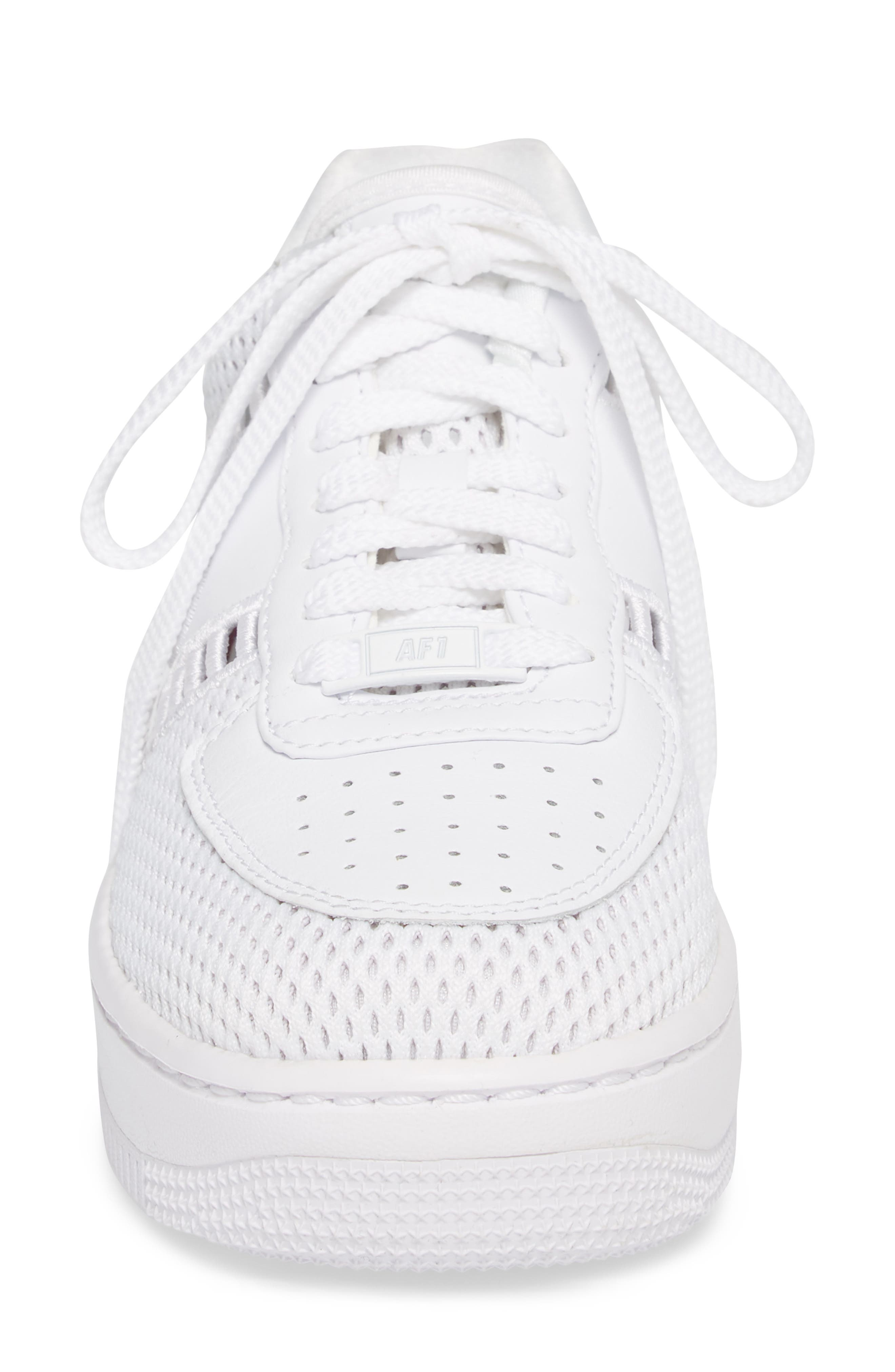 Air Force 1 Upstep SI Mesh Sneaker,                             Alternate thumbnail 4, color,                             100