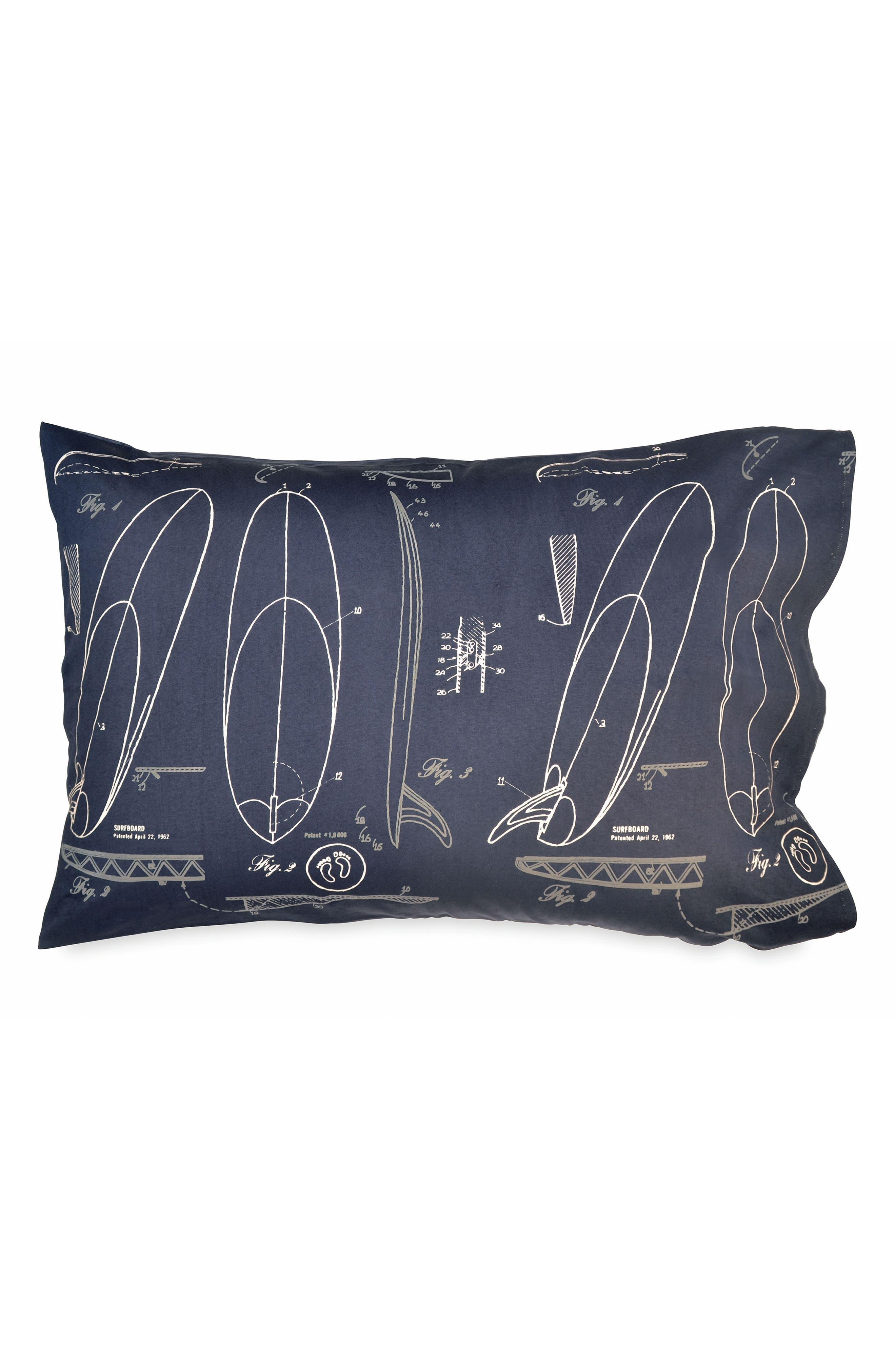 Surfer Sketch Pillowcase,                         Main,                         color, 040