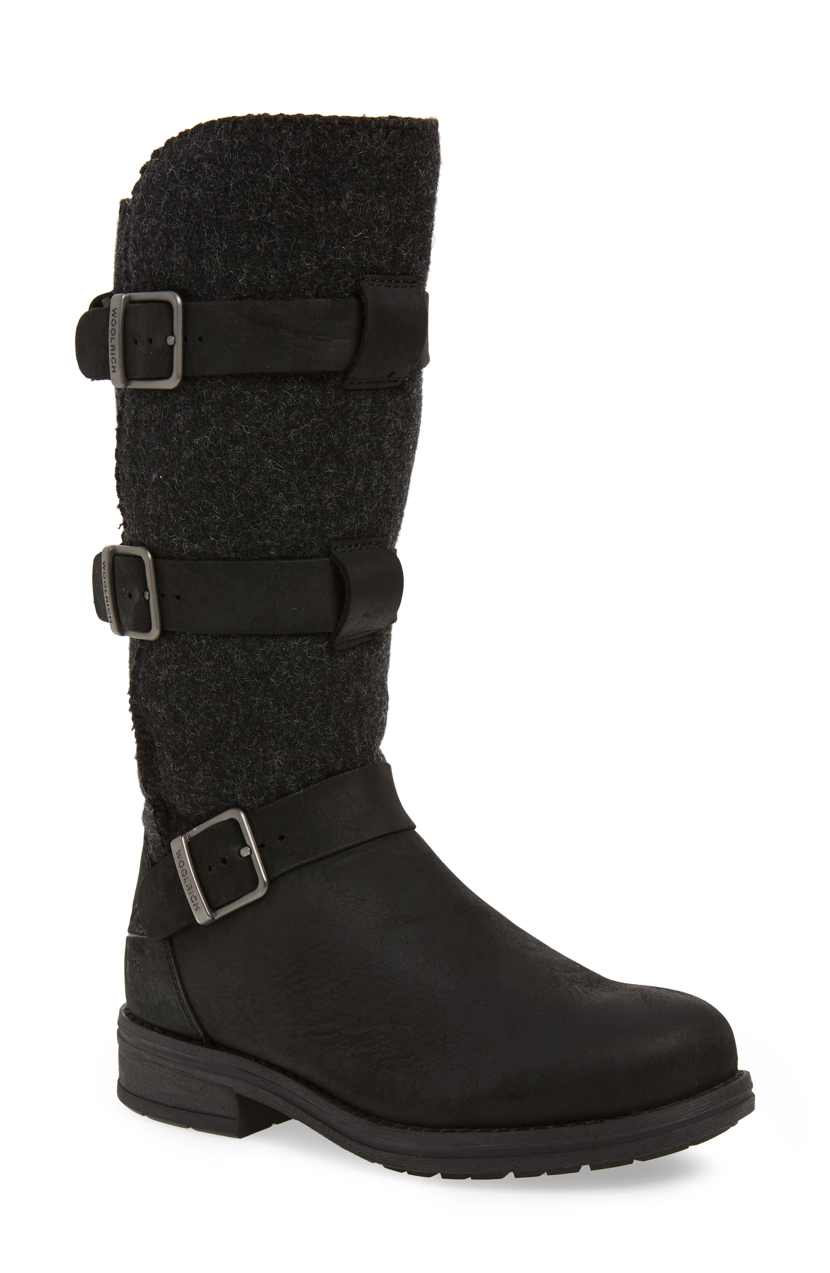 Frontier Boot,                         Main,                         color, BLACK LEATHER