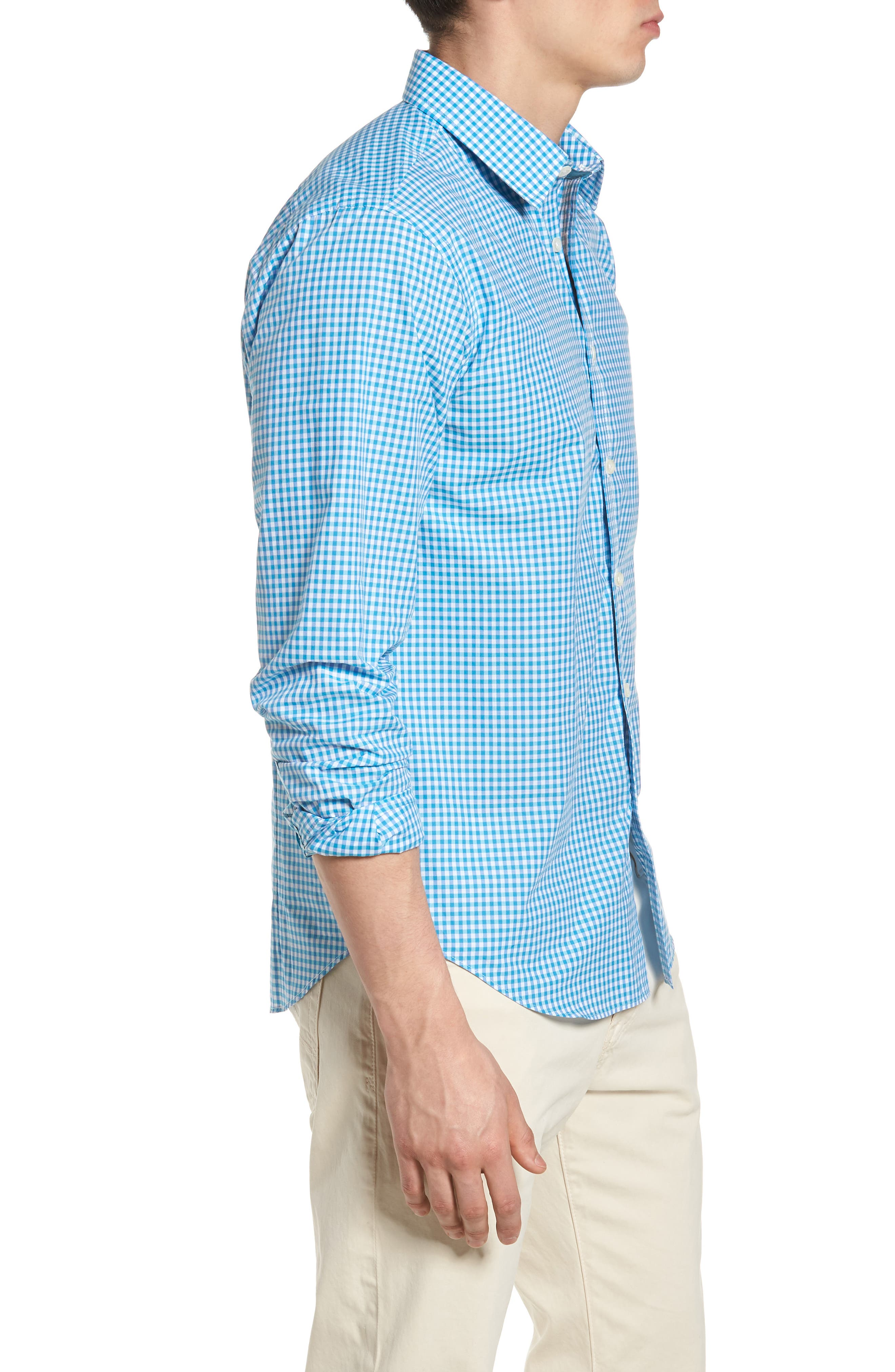 Slim Fit Check Sport Shirt,                             Alternate thumbnail 3, color,                             439