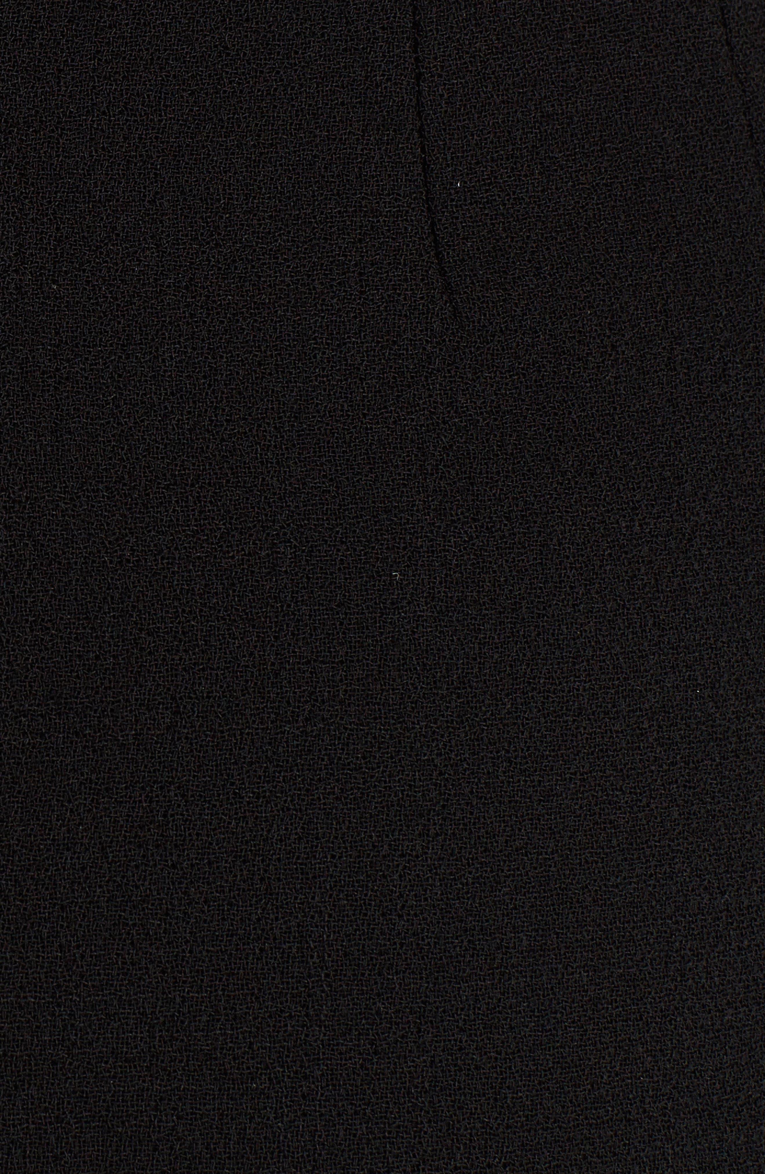 Button Detail Wool Crepe Dress,                             Alternate thumbnail 5, color,
