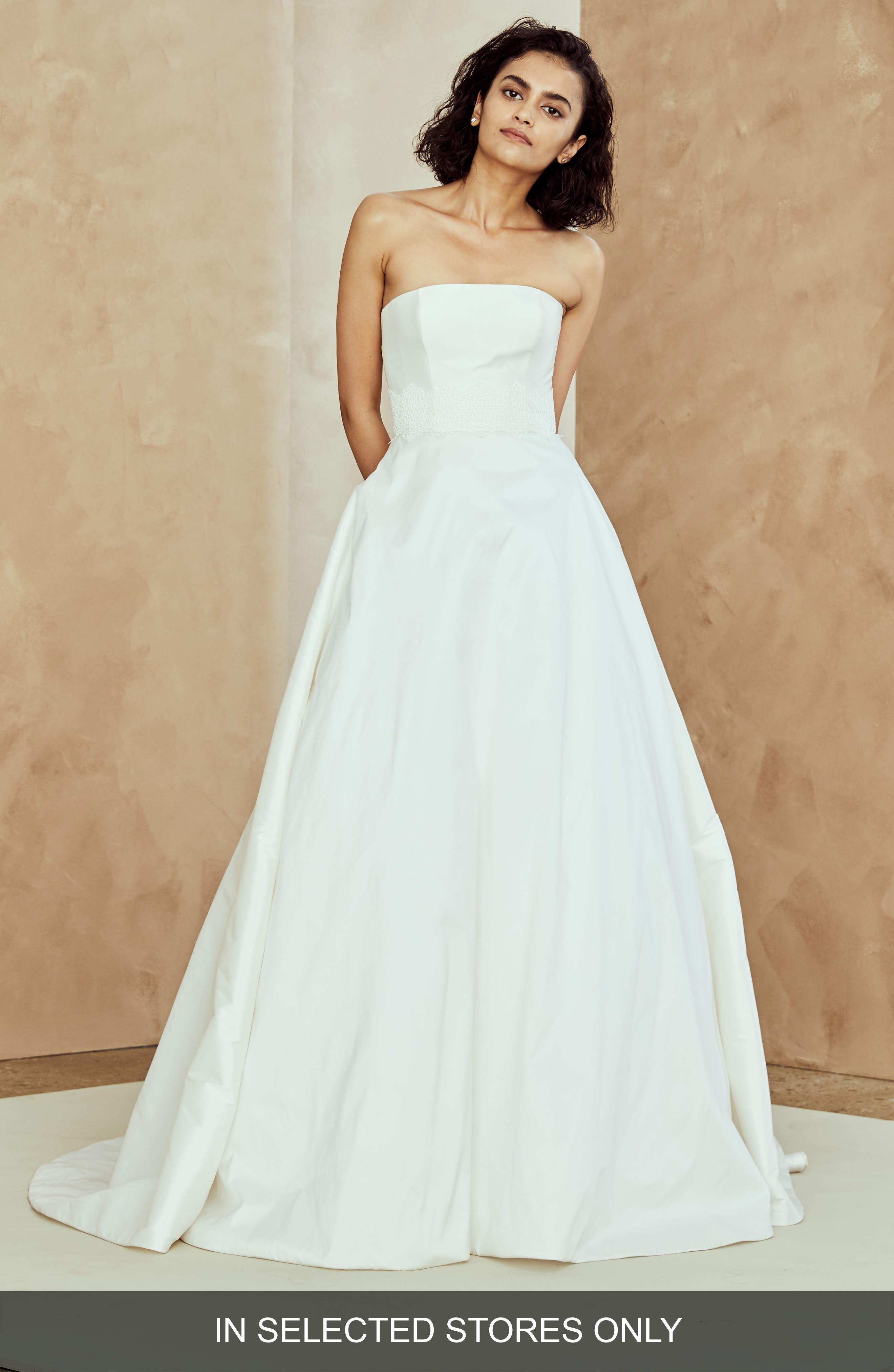 Ana Strapless Ballgown,                             Main thumbnail 1, color,                             IVORY