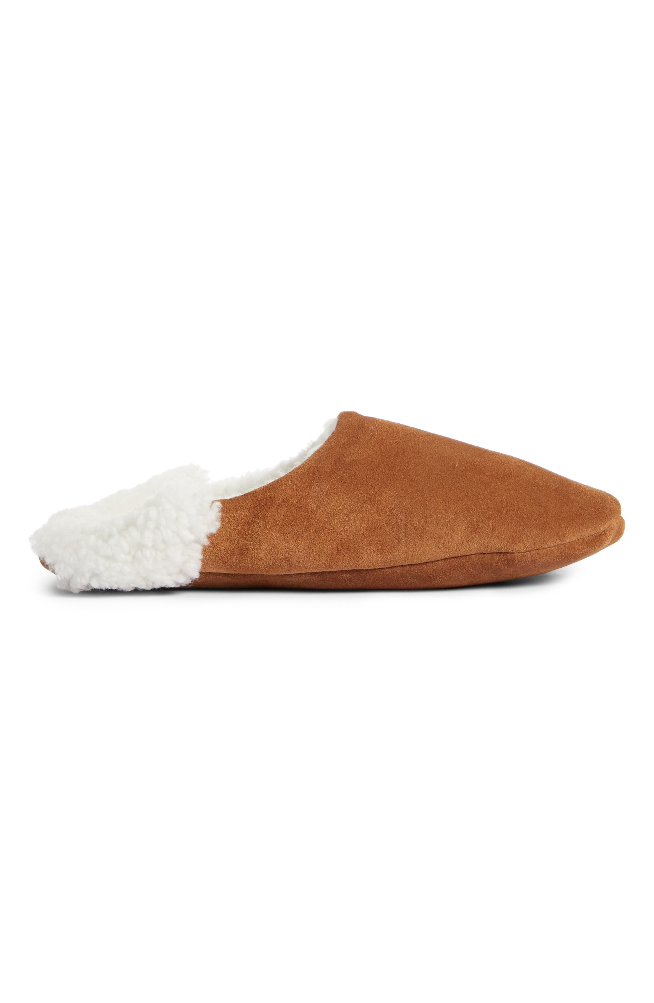 Moroccan Indoor Slipper,                             Alternate thumbnail 4, color,                             SADDLE/ IVORY