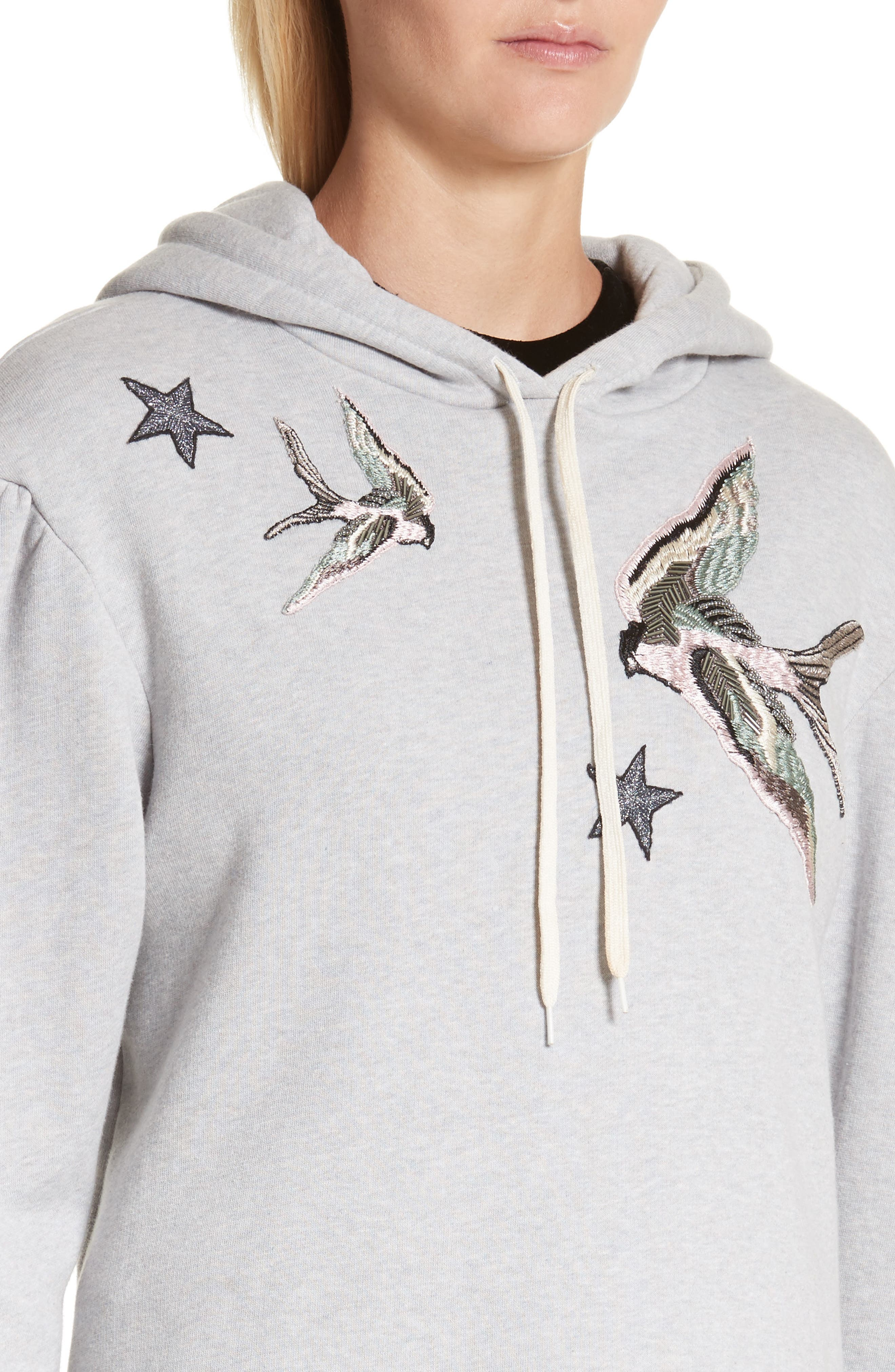 Embroidered Hoodie,                             Alternate thumbnail 4, color,                             692