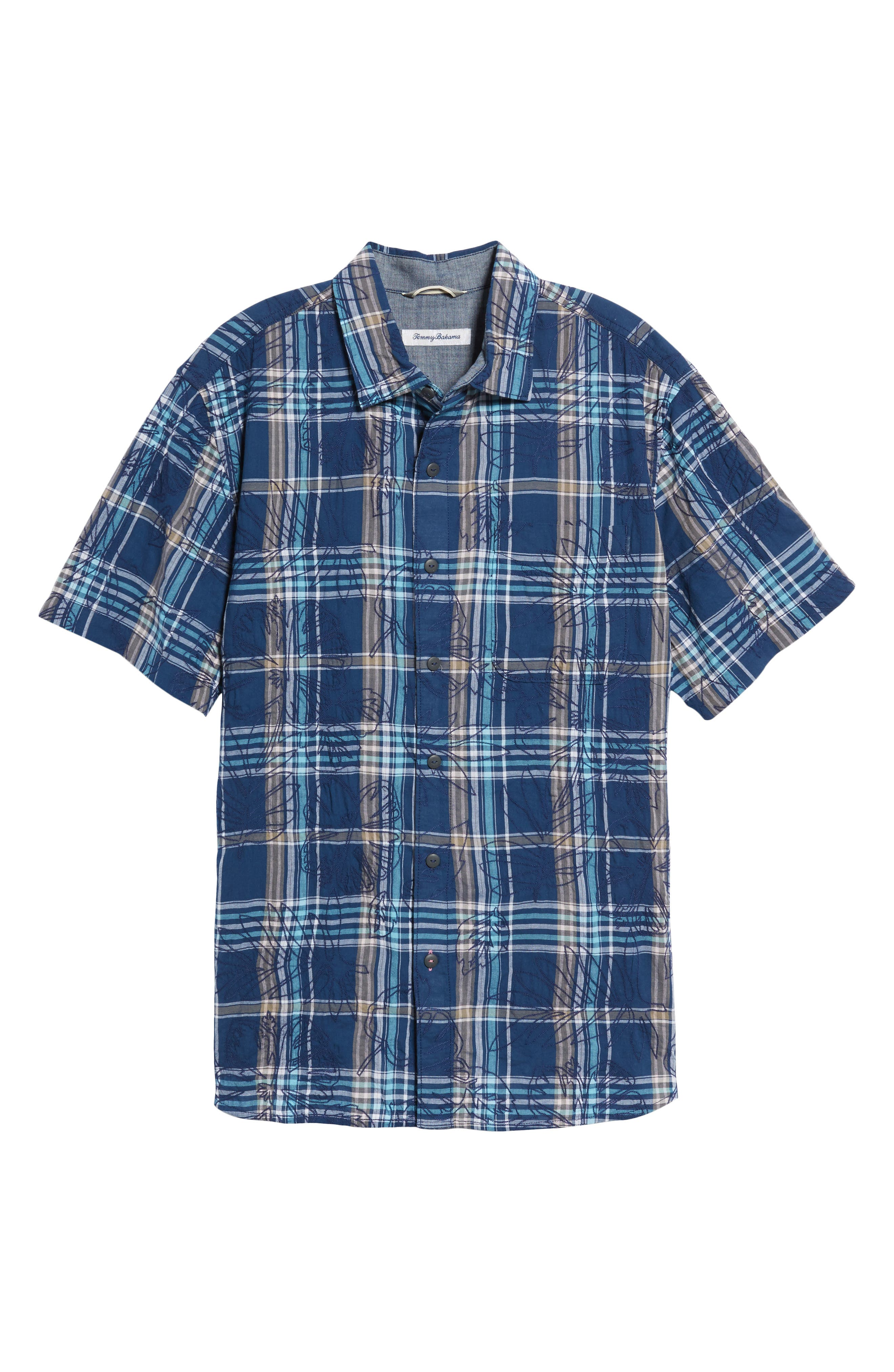 Pallazo Plaid Sport Shirt,                             Alternate thumbnail 6, color,                             401