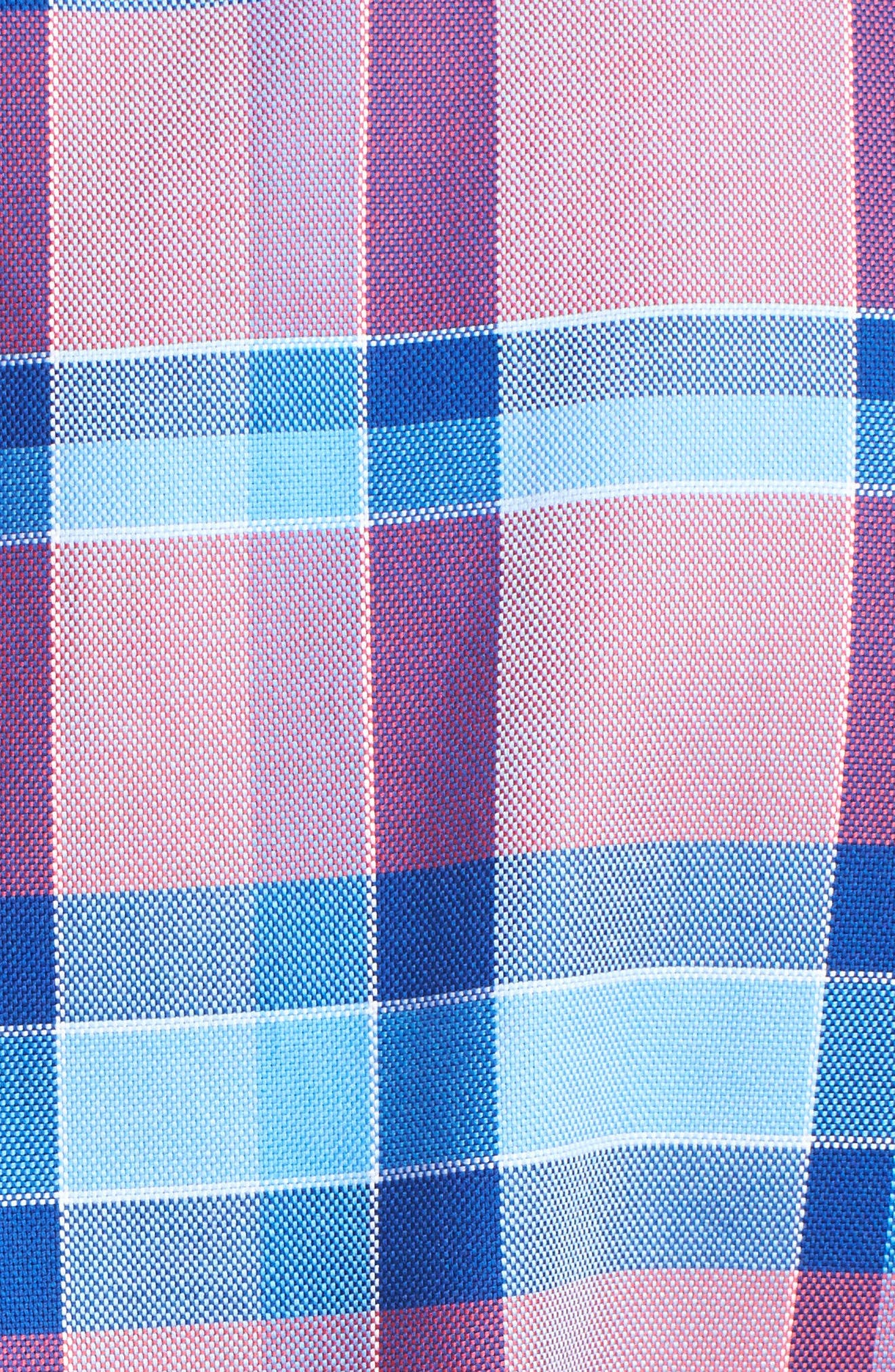 Redwood Plaid Sport Shirt,                             Alternate thumbnail 5, color,                             845