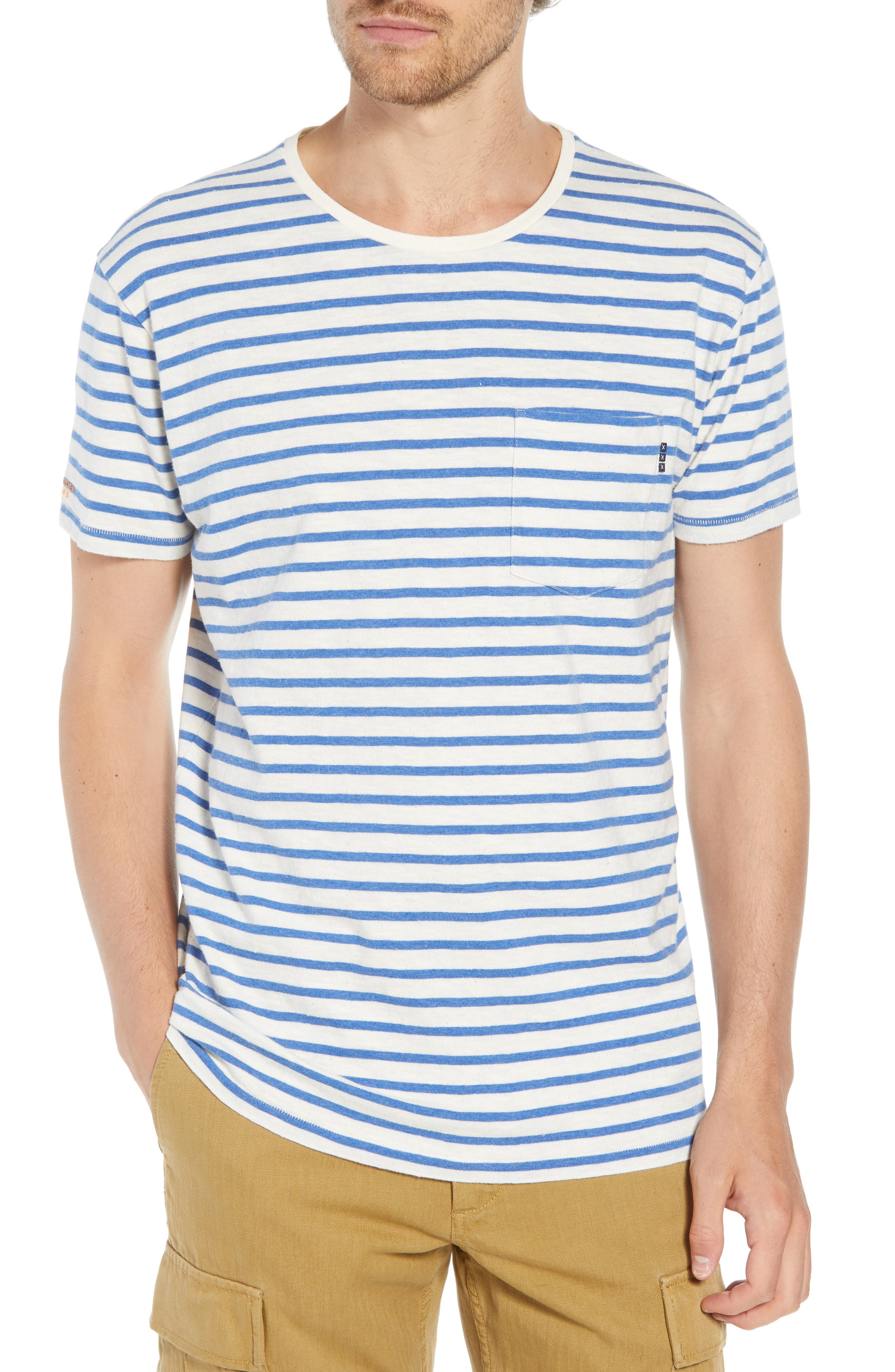 Stripe Pocket T-Shirt,                         Main,                         color, 110
