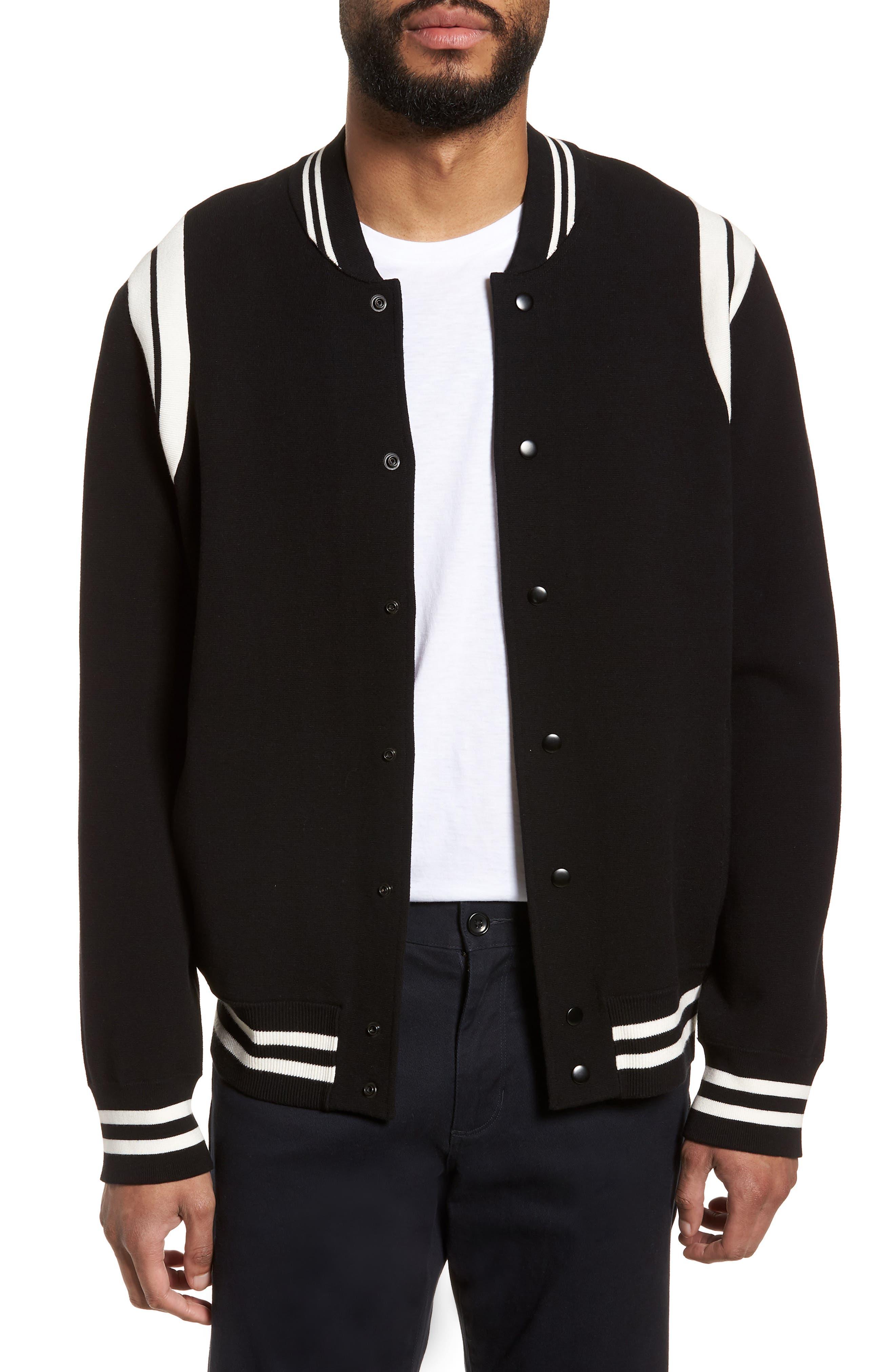 Varsity Regular Fit Jacket,                             Main thumbnail 1, color,                             001