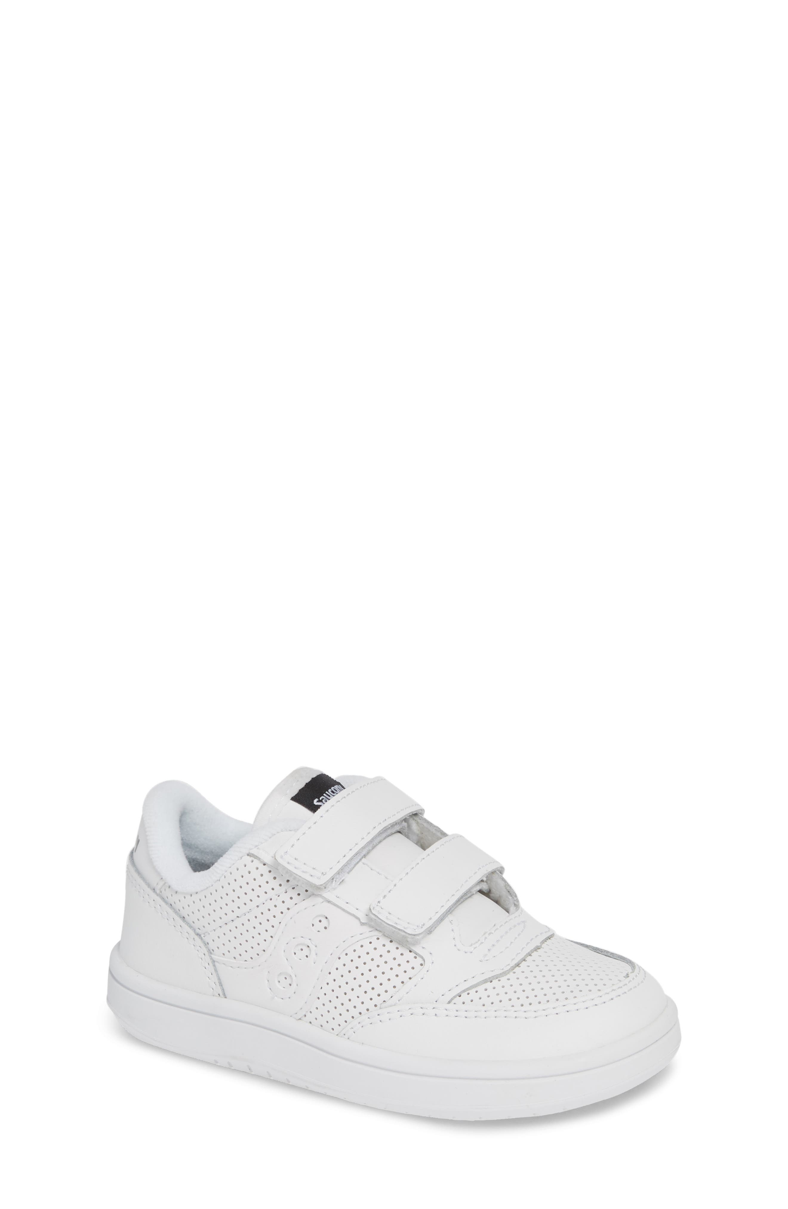 Jazz Court Sneaker, Main, color, WHITE