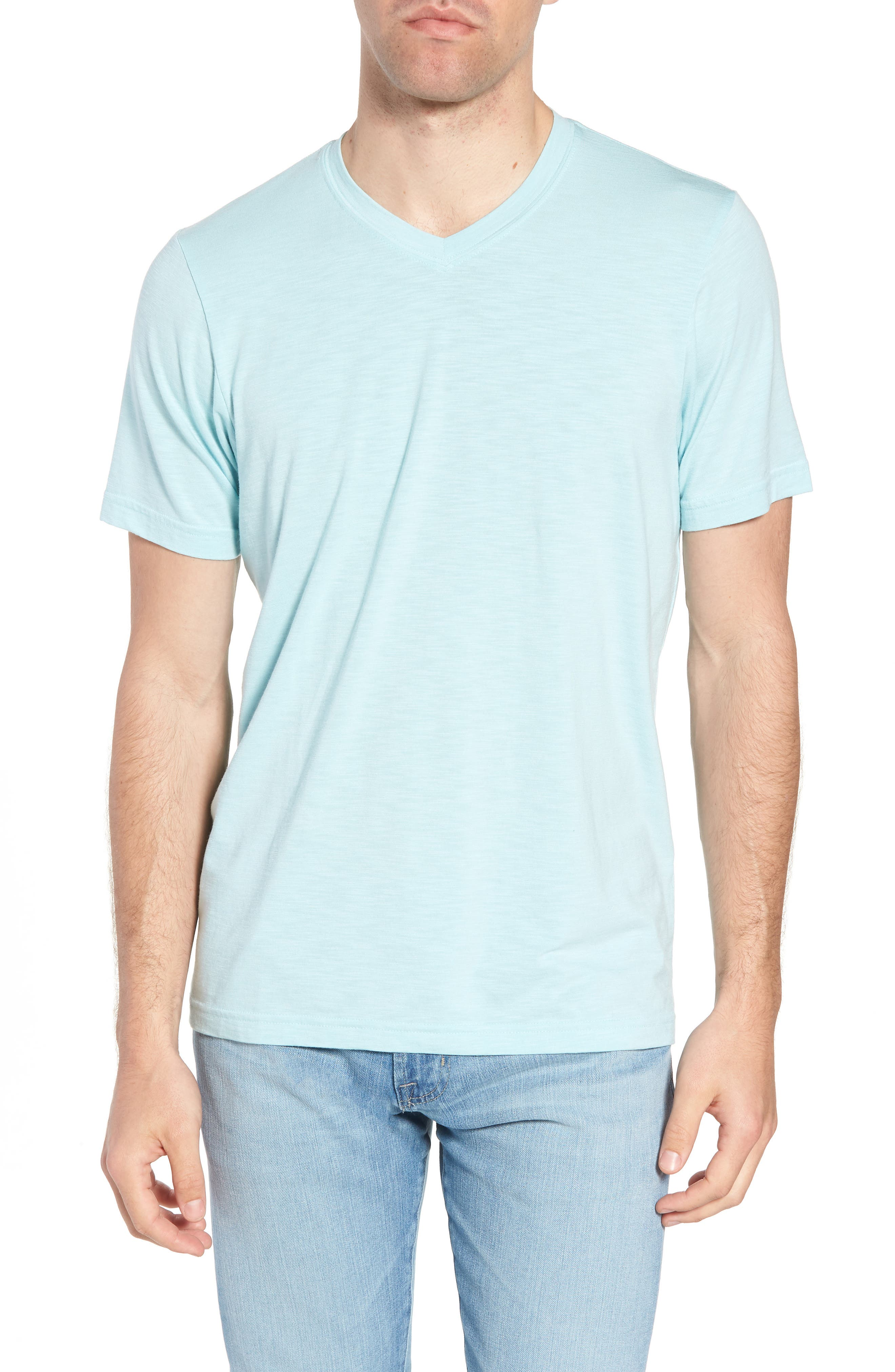 'Trumbull' Trim Fit Slubbed T-Shirt,                             Main thumbnail 1, color,                             PORCELAIN BLUE