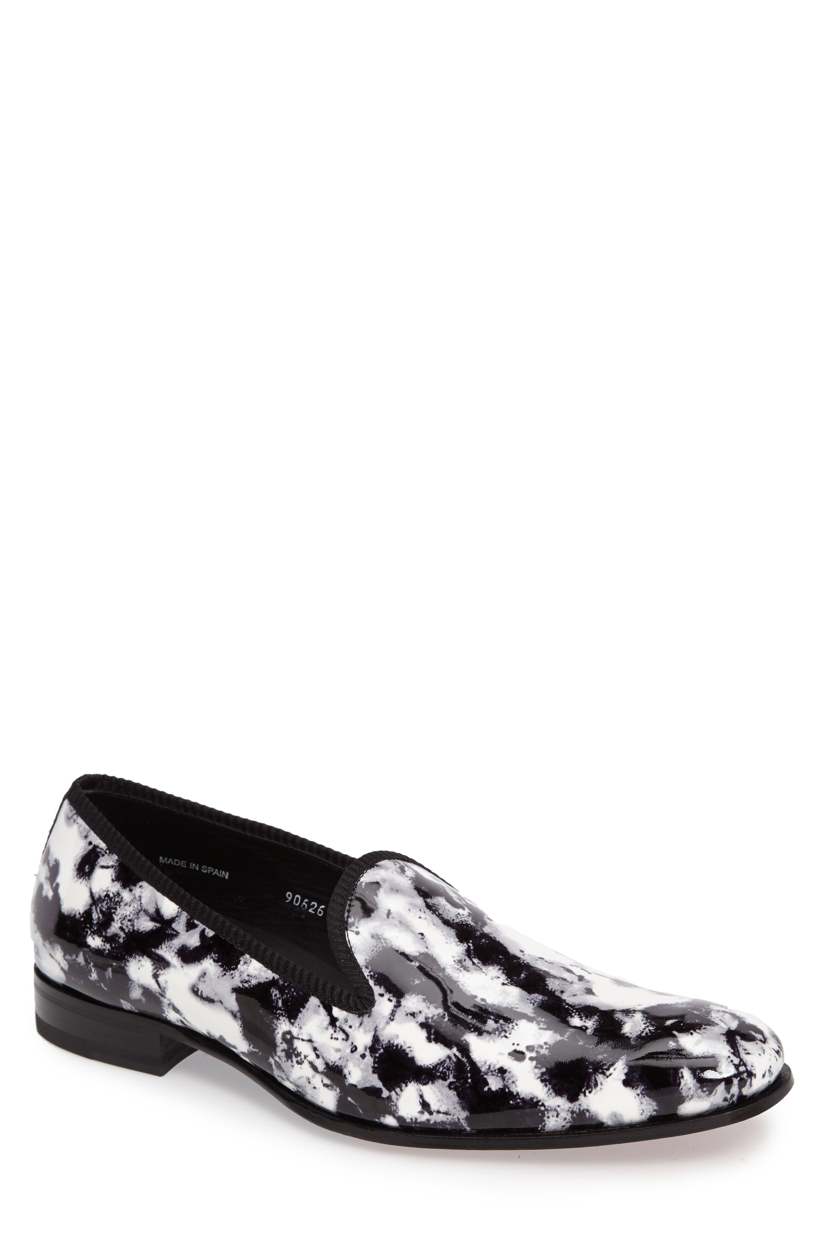 Mayr Patterned Venetian Loafer,                             Main thumbnail 1, color,                             001