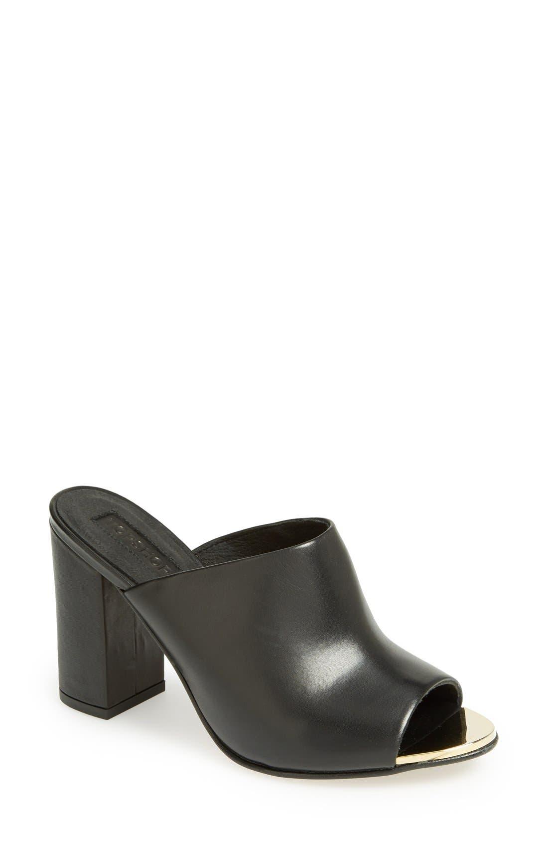 'Glacial' Mule Sandal,                         Main,                         color, 001