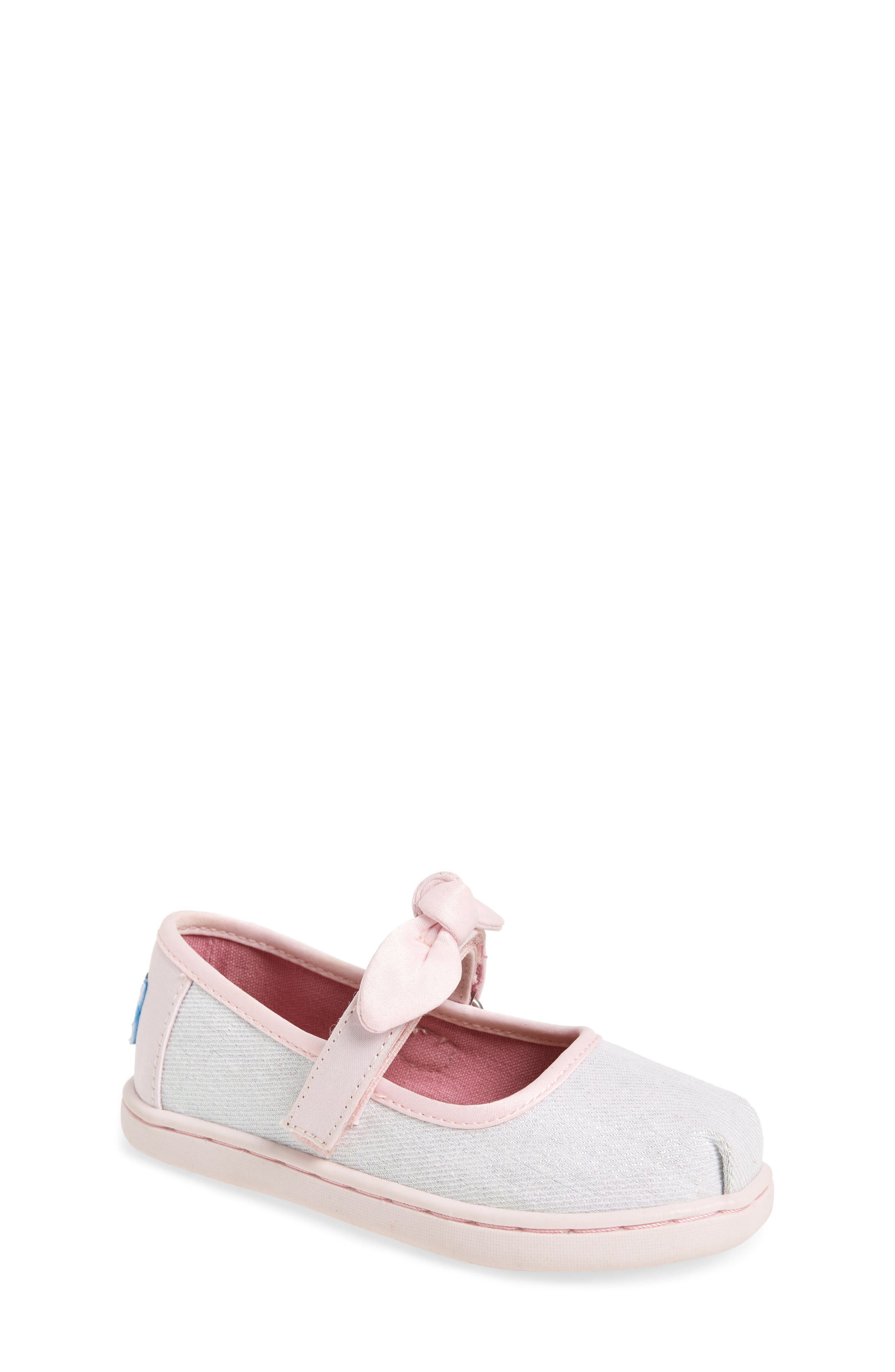 Bow Metallic Mary Jane Sneaker,                             Main thumbnail 1, color,                             IRIDESCENT TWILL GLIMMER
