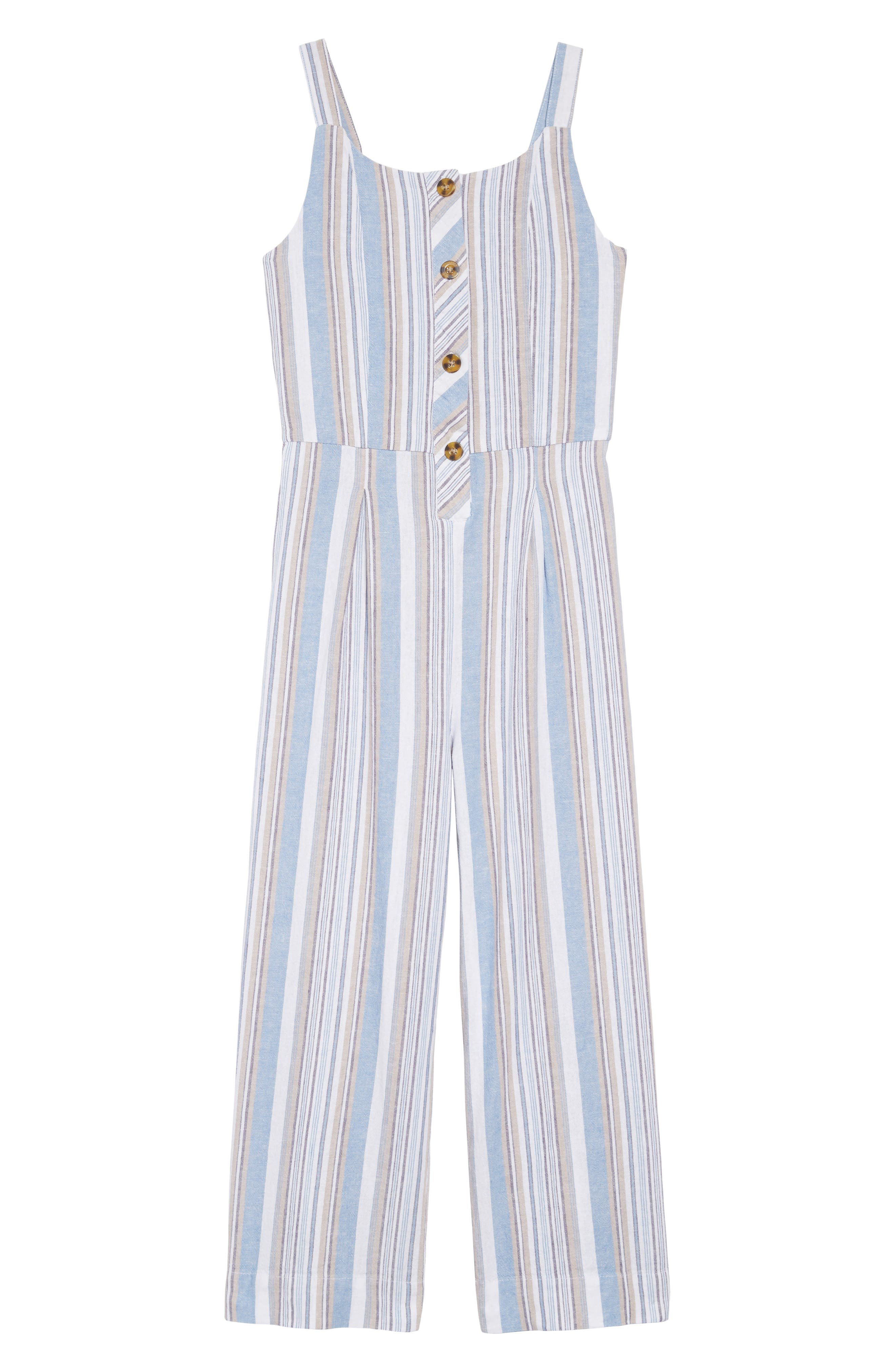 Girls Habitual Girl Thea Back Tie Jumpsuit Size 10  White