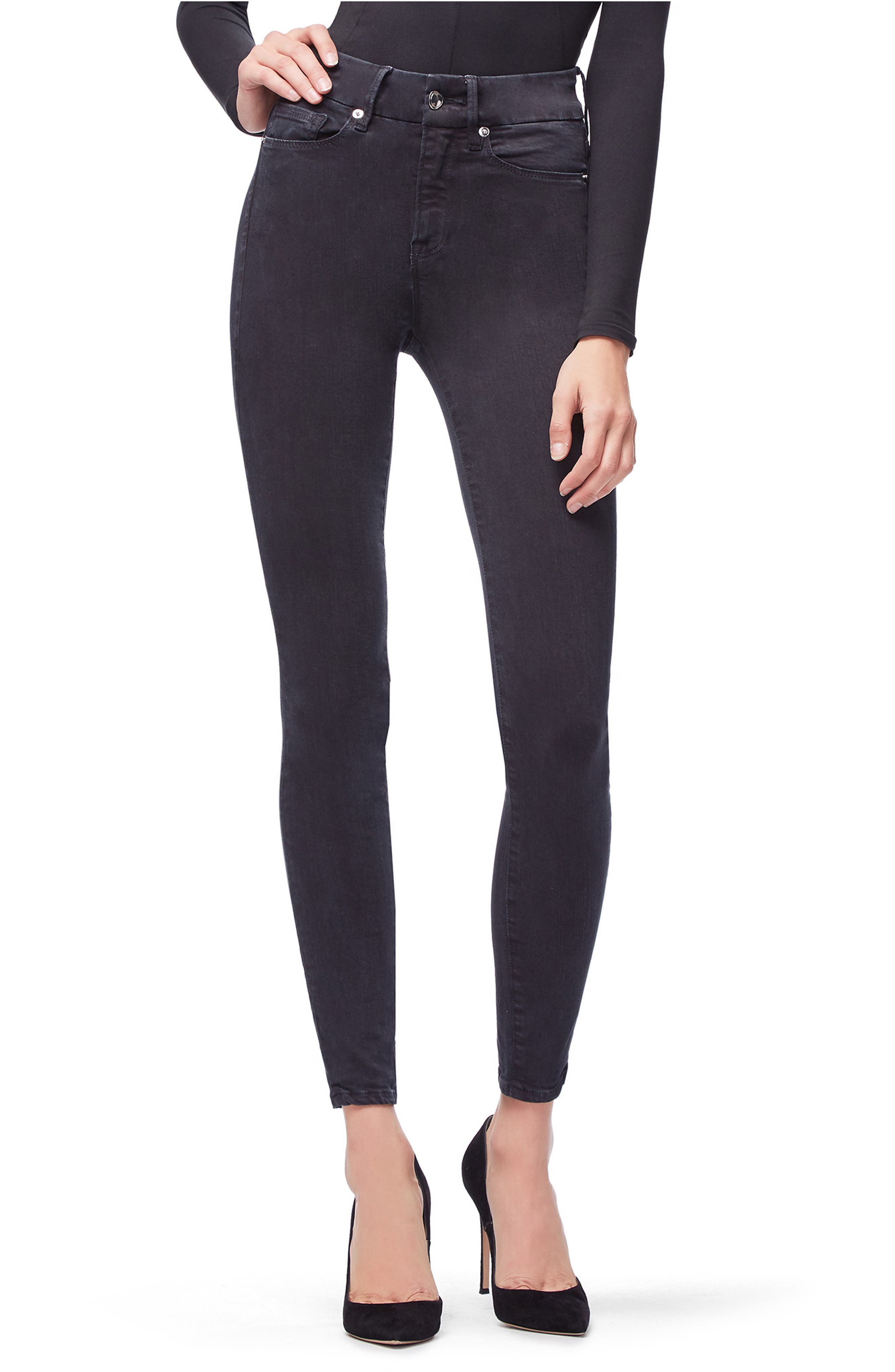 Good Legs High Waist Skinny Jeans,                         Main,                         color, 001