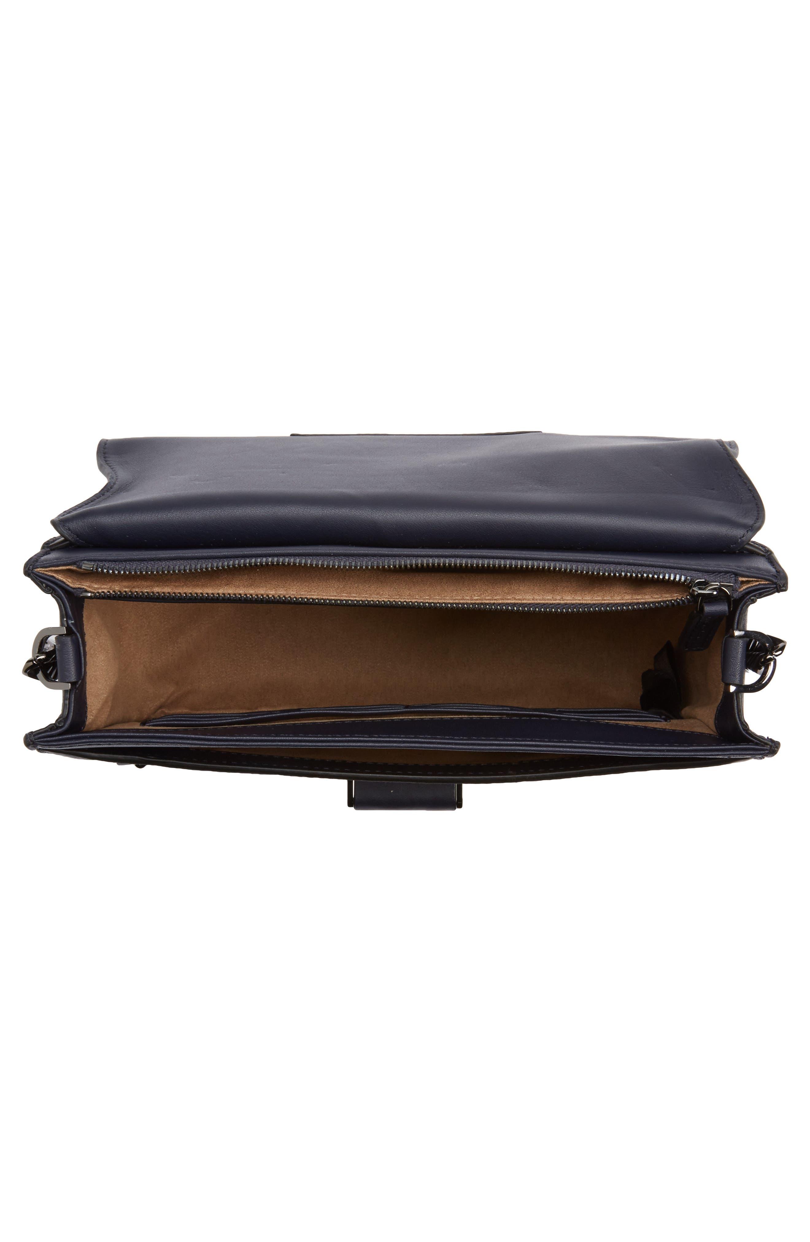 Cortney Nappa Leather Shoulder/Crossbody Bag,                             Alternate thumbnail 16, color,