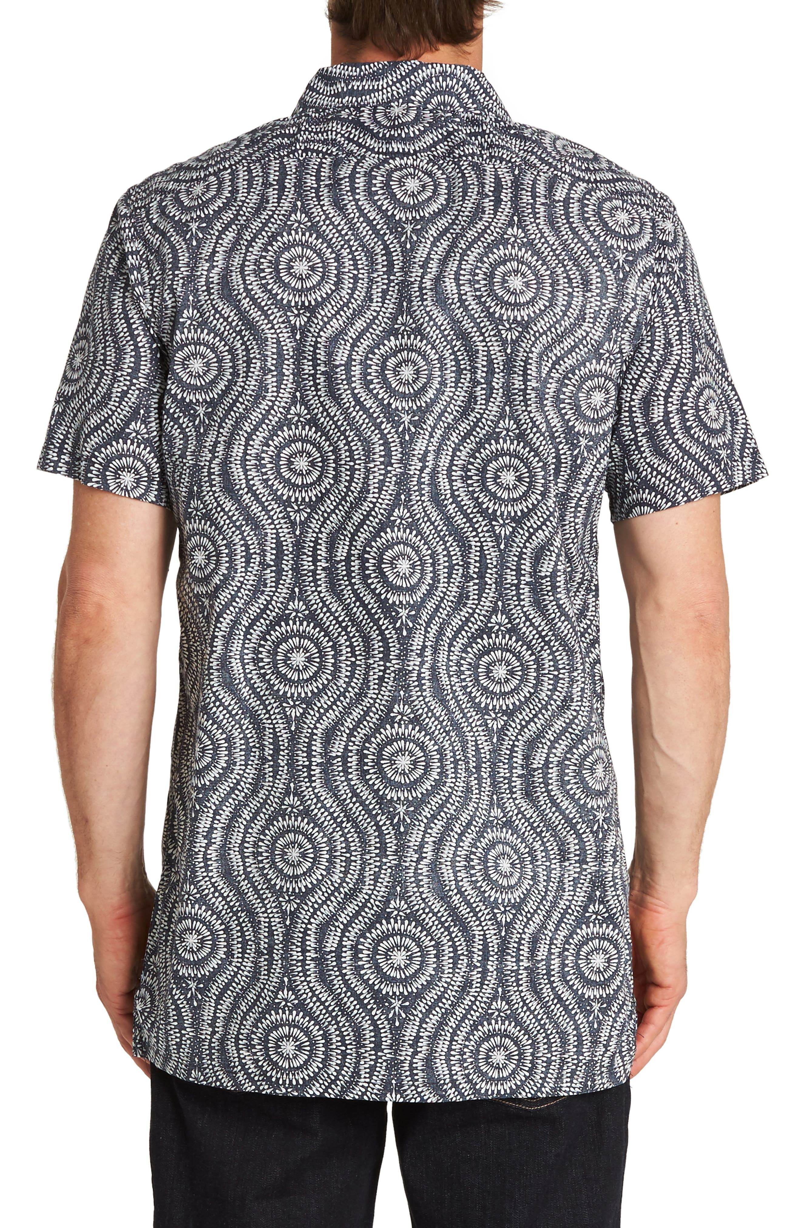 Cosmic Patterned Camp Shirt,                             Alternate thumbnail 2, color,                             INDIGO