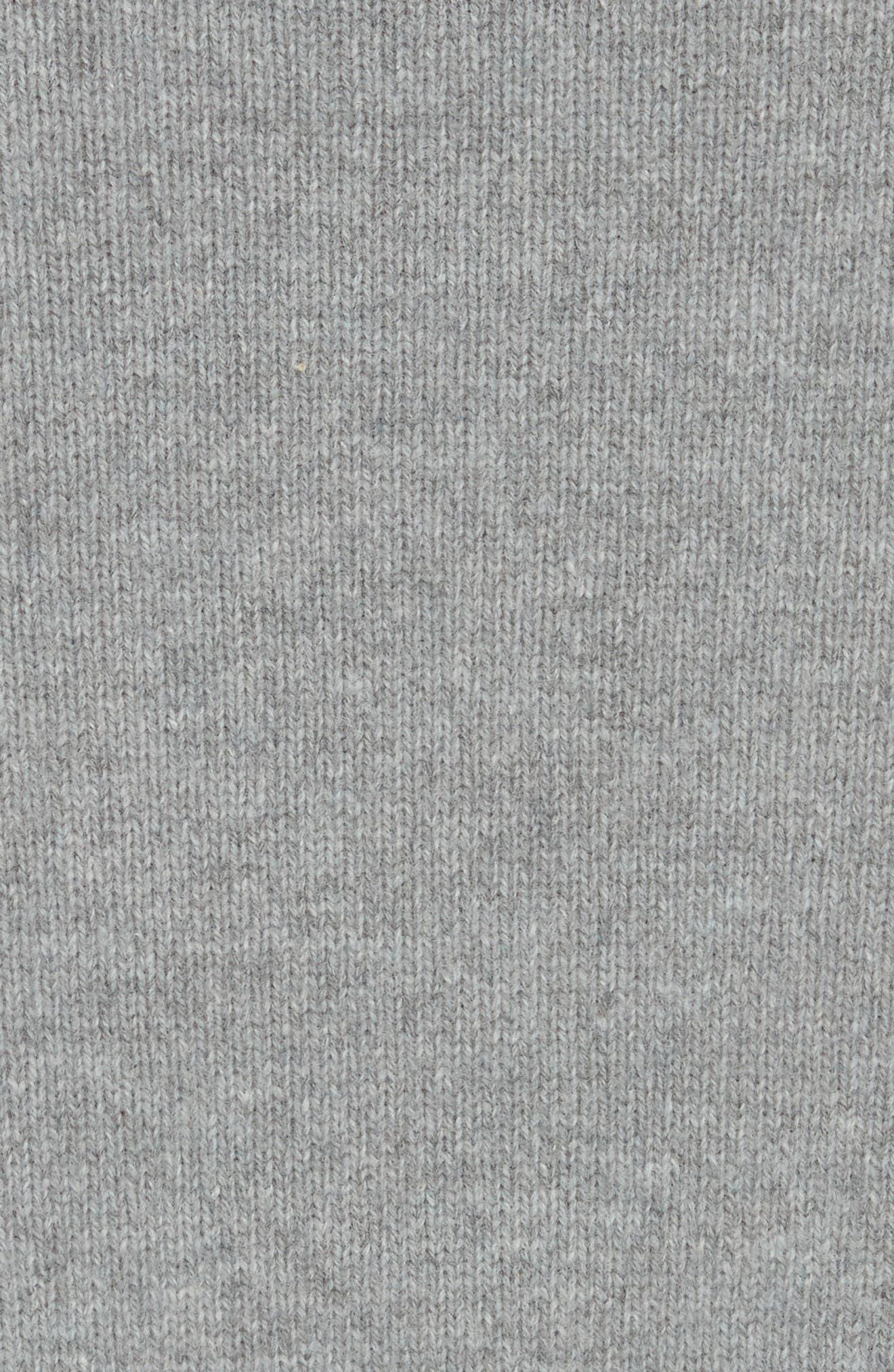 Rainbow Stripe Merino Wool Blend Sweater,                             Alternate thumbnail 5, color,                             MEDIUM GREY MELANGE
