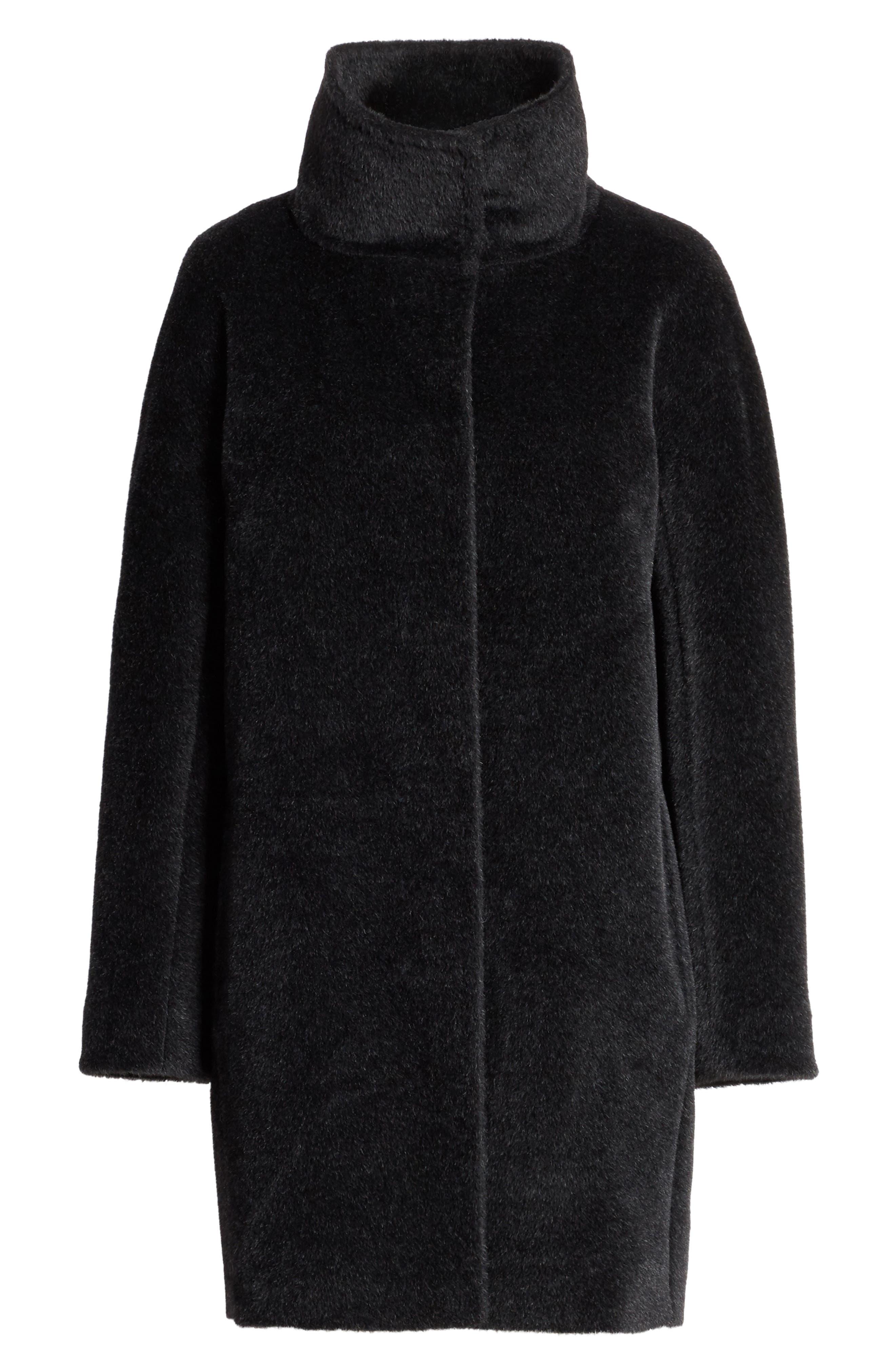 Alpaca & Wool Coat,                             Alternate thumbnail 5, color,                             024