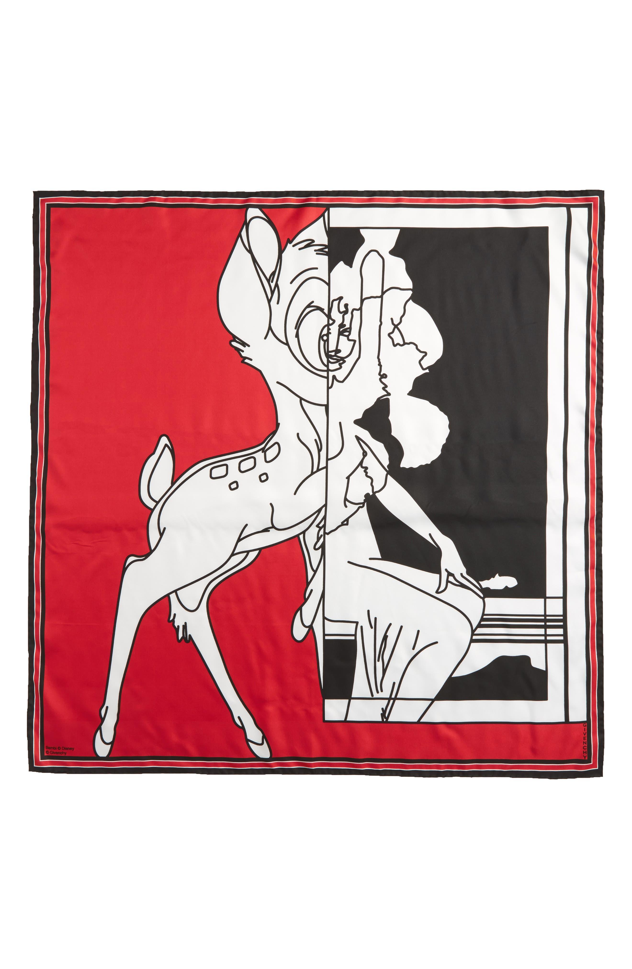 Bambi Print Square Scarf,                             Alternate thumbnail 10, color,