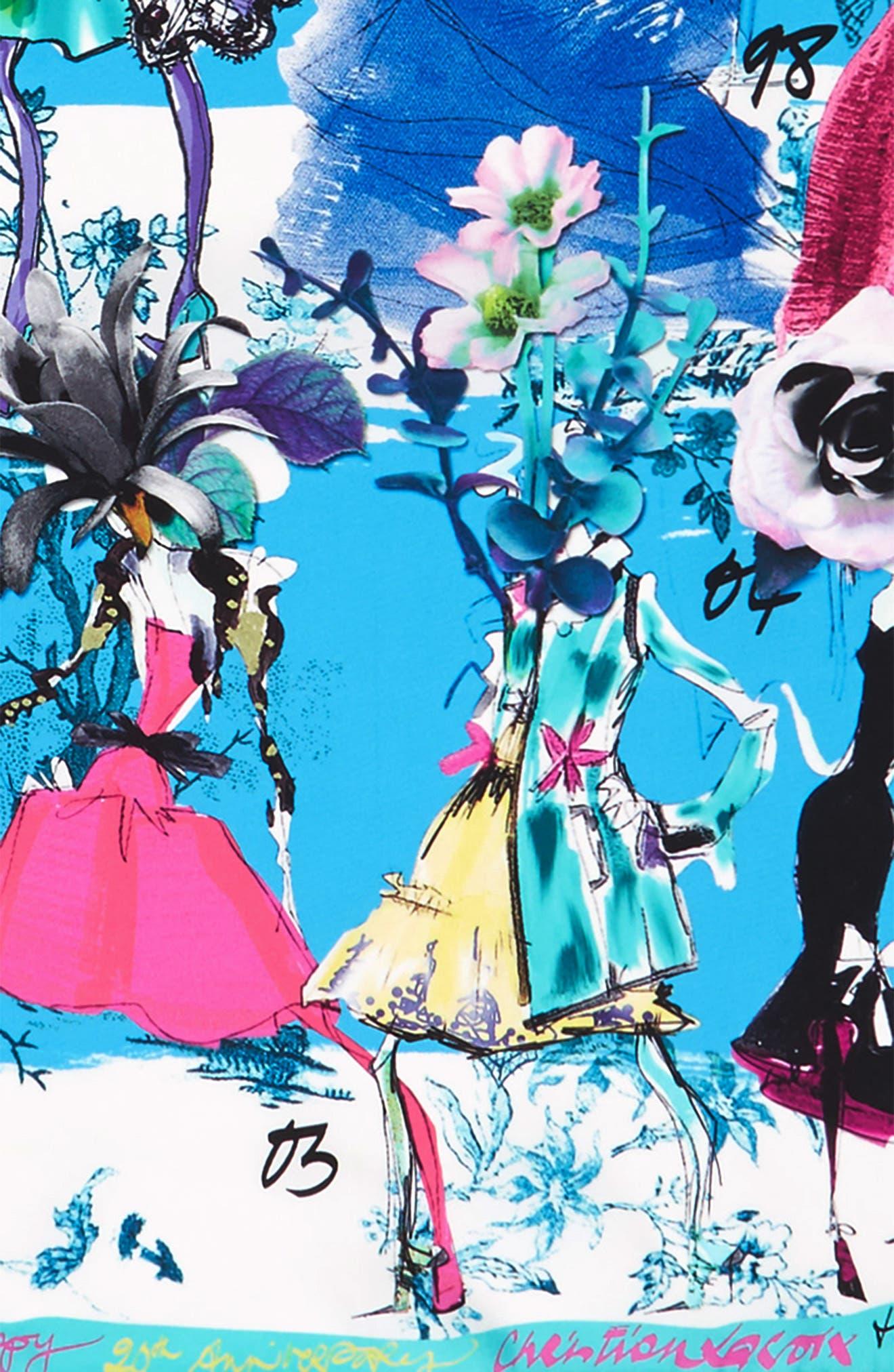 Les Filles en Fleur Square Silk Scarf,                             Alternate thumbnail 16, color,