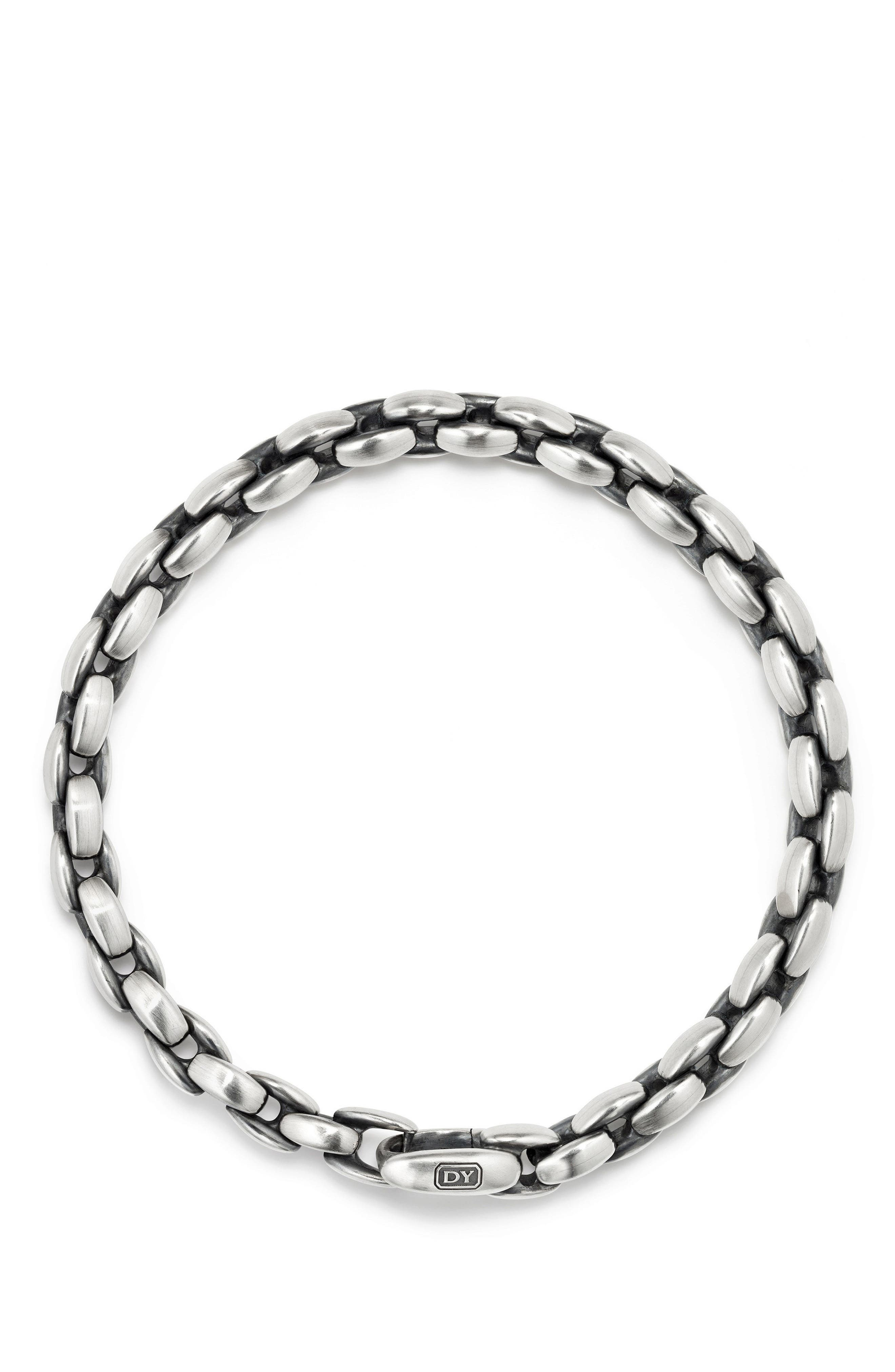 Elongated Box Chain Bracelet, 6mm,                             Alternate thumbnail 2, color,                             SILVER