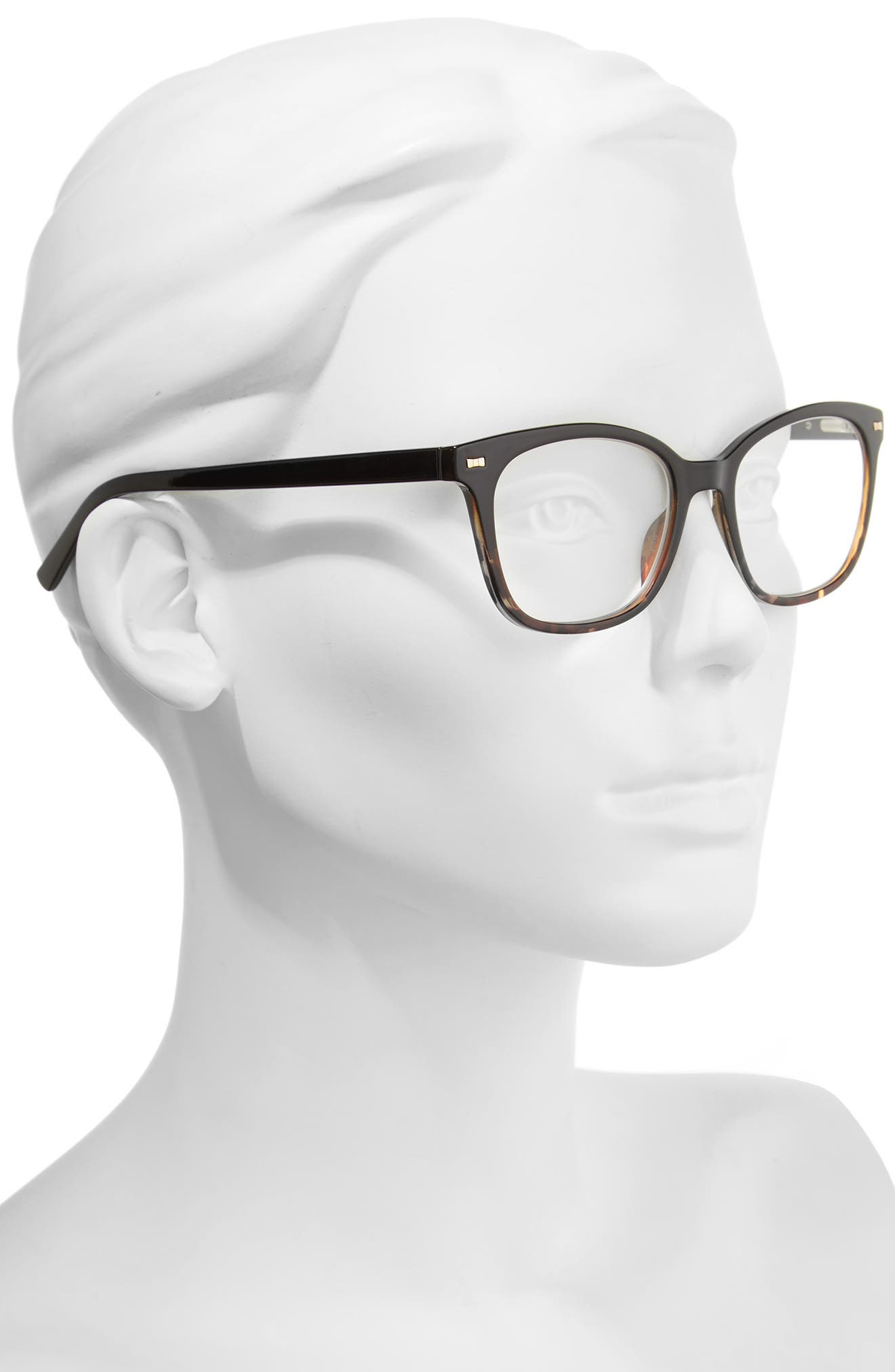 keadra 51mm reading glasses,                             Alternate thumbnail 2, color,                             BLACK HAVANA