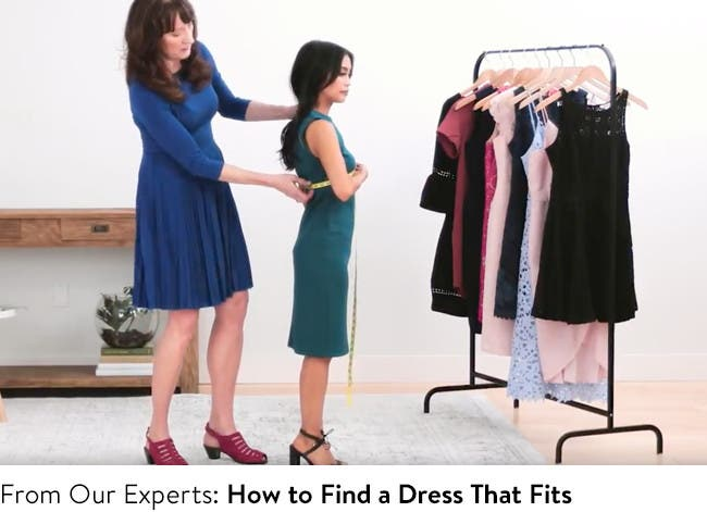 Play video to learn how to find a dress that fits.
