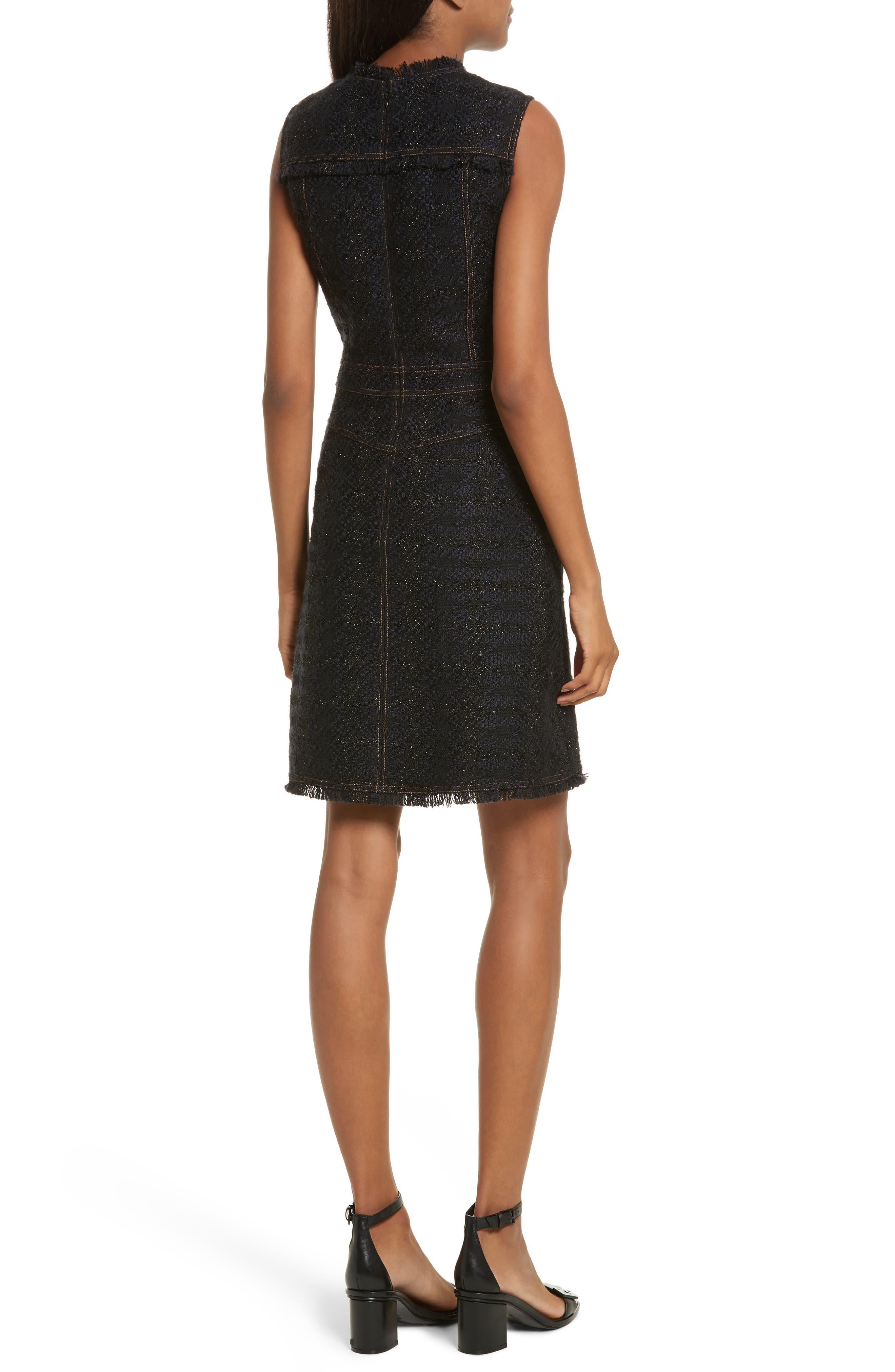 Aria Tweed Sheath Dress,                             Alternate thumbnail 2, color,                             007