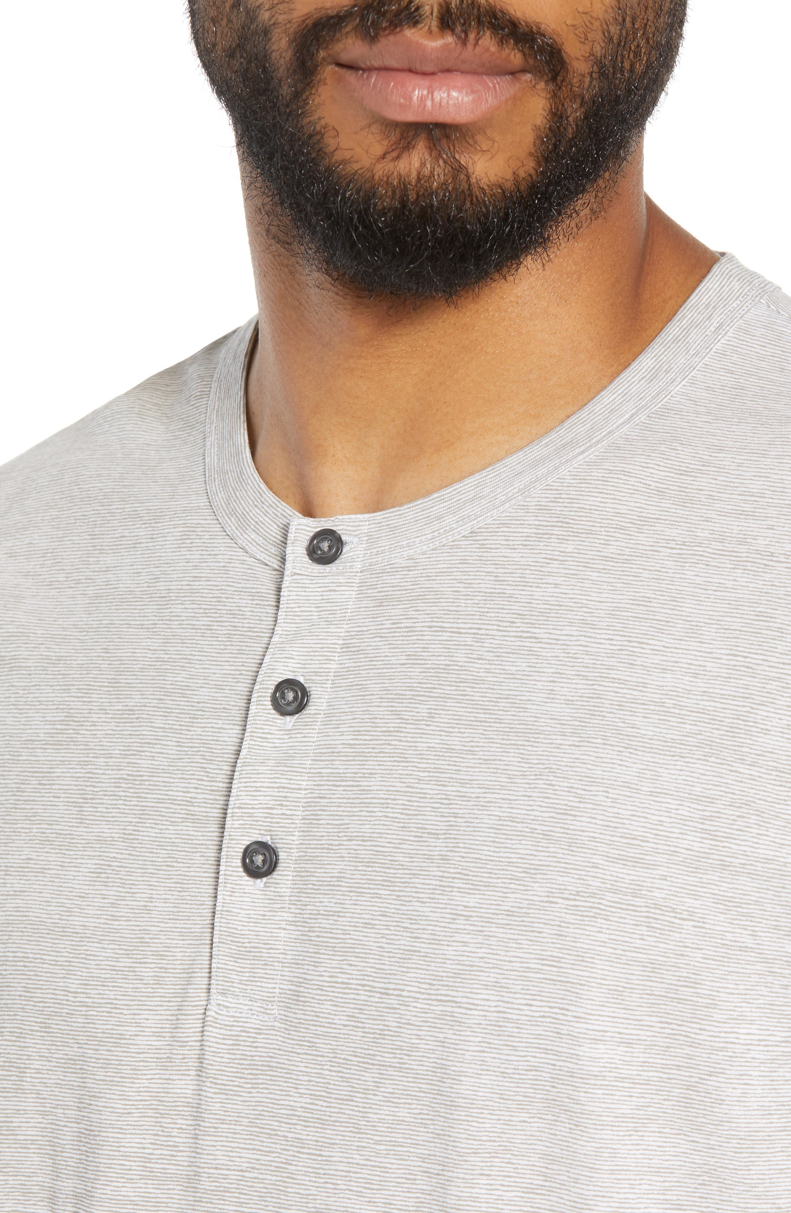 Essential Regular Fit Short Short Sleeve Henley,                             Alternate thumbnail 4, color,                             021