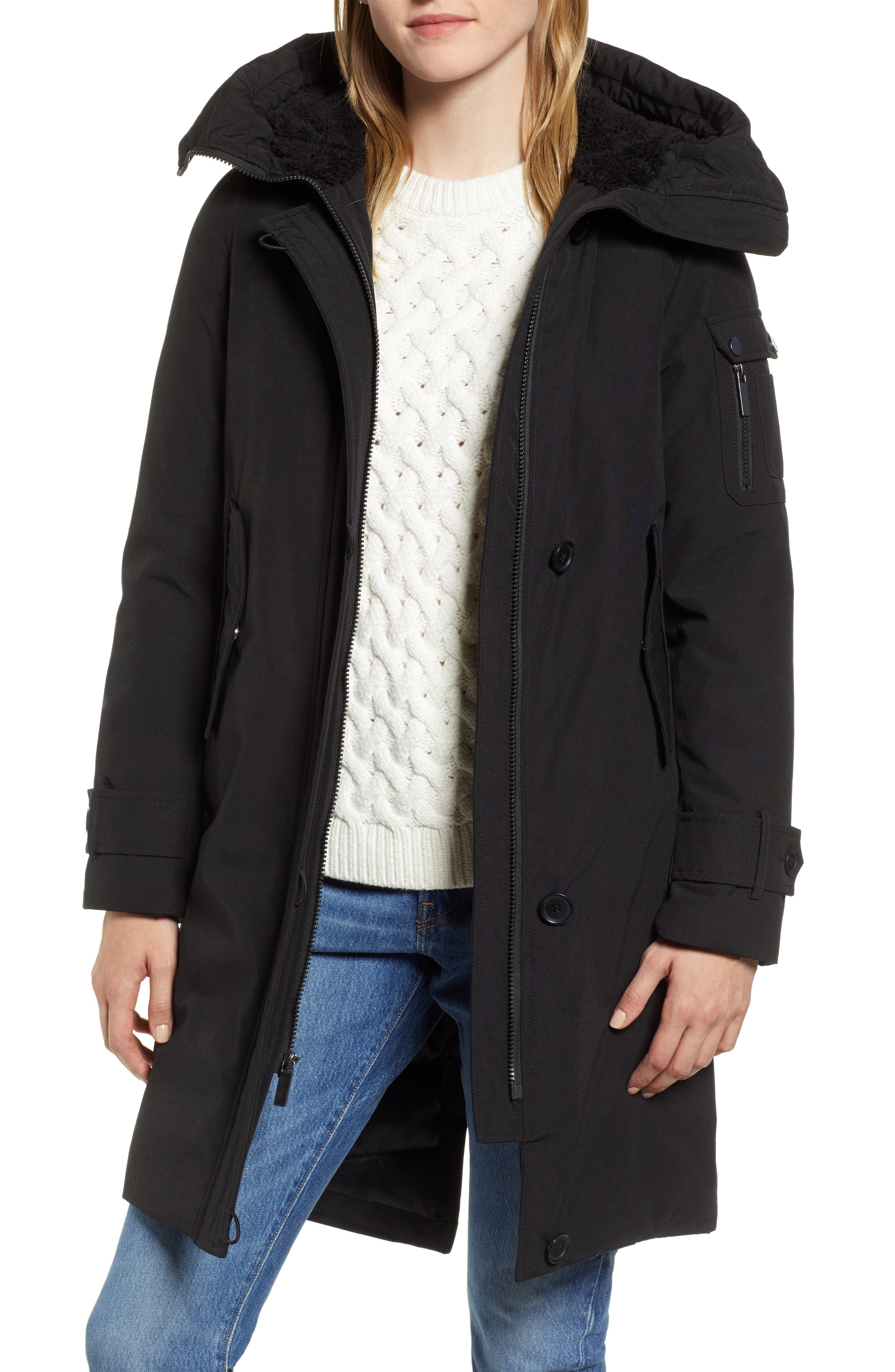 Heavyweight Parka,                         Main,                         color, BLACK