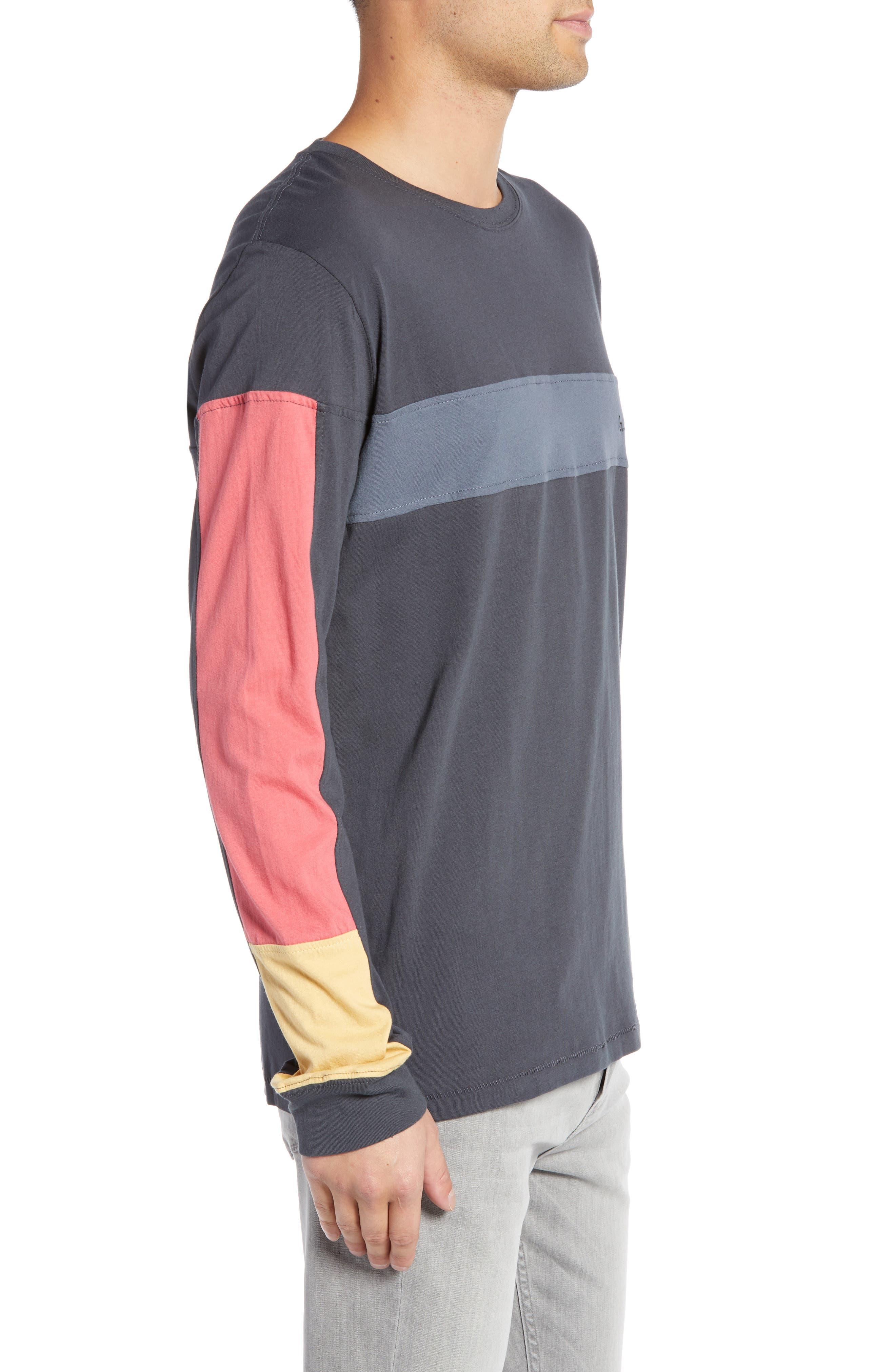 BARNEY COOLS,                             B Quick Colorblock Long Sleeve T-Shirt,                             Alternate thumbnail 3, color,                             001