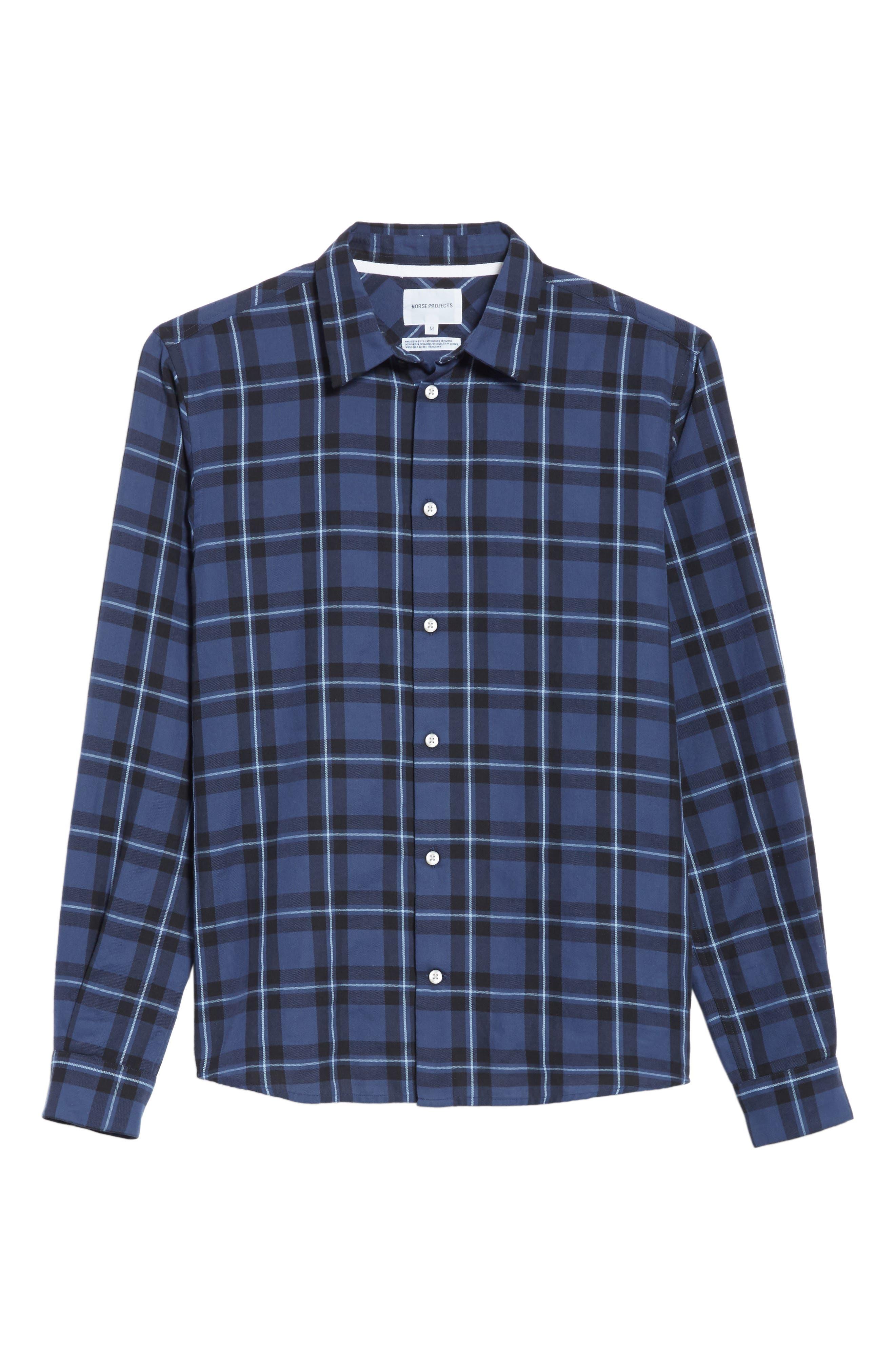 Hans Check Woven Shirt,                             Alternate thumbnail 6, color,                             410