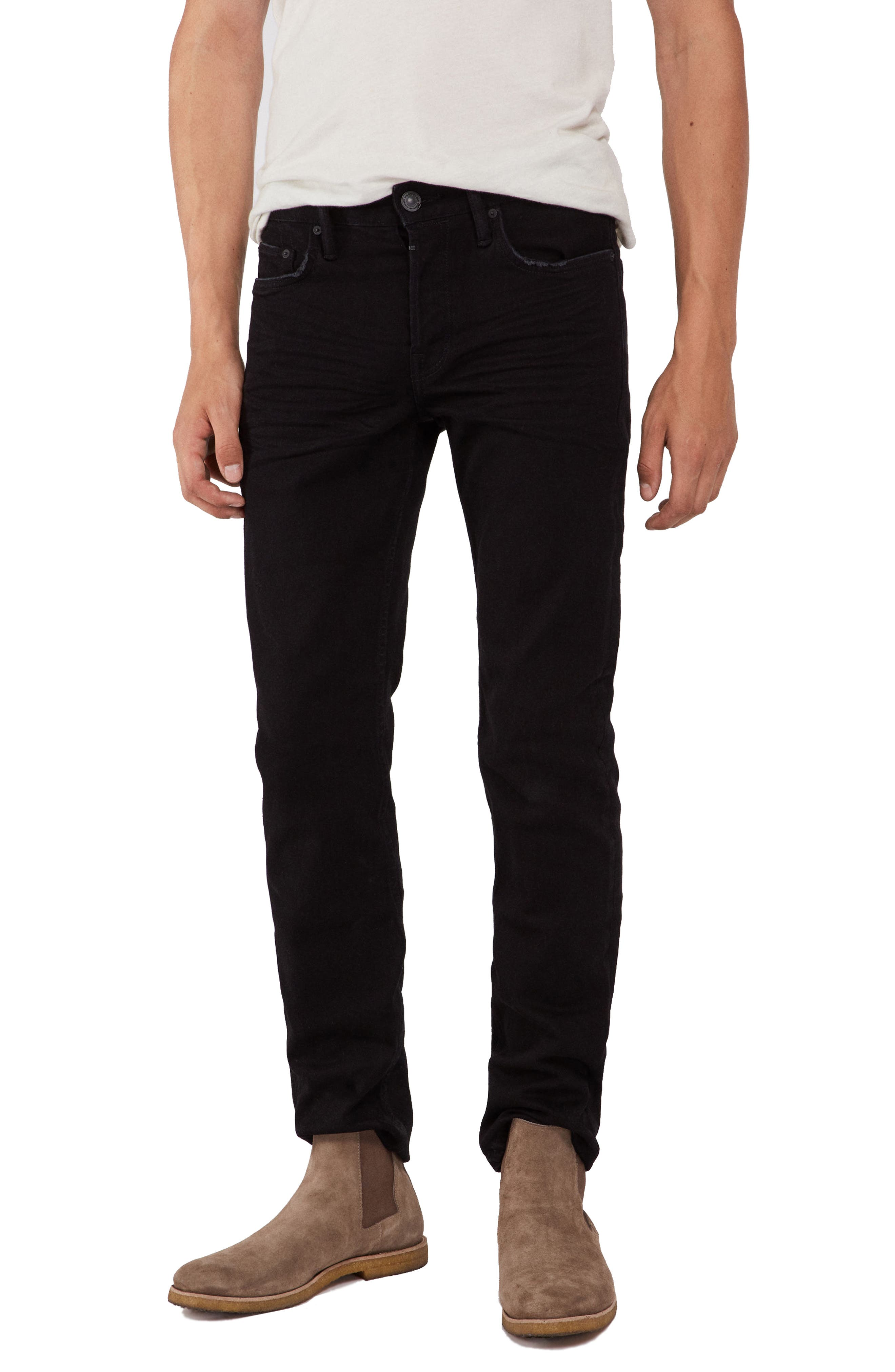 Reed Slim Straight Leg Jeans,                         Main,                         color, BLACK