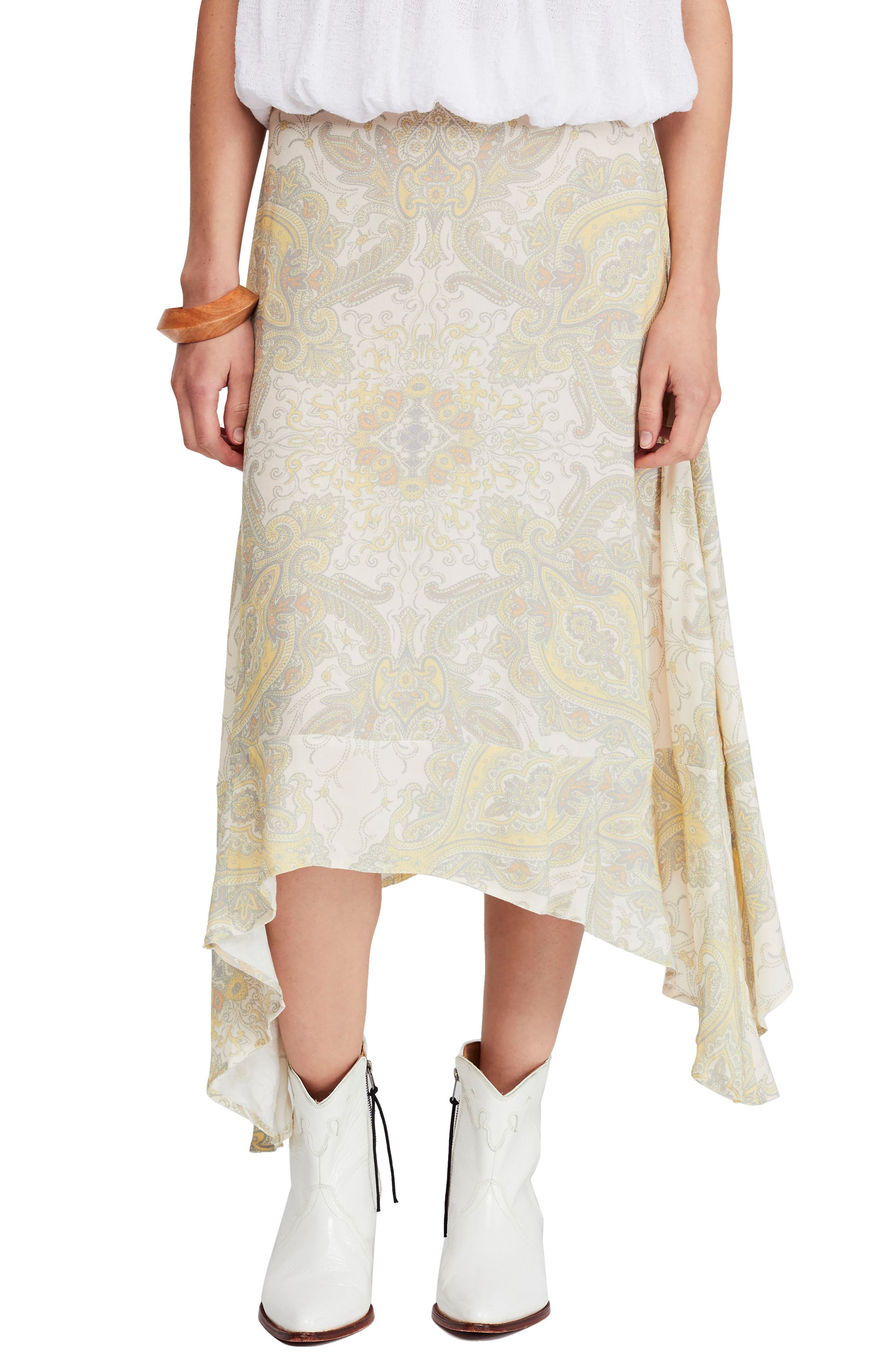 Free People At The Shore Skirt, Yellow