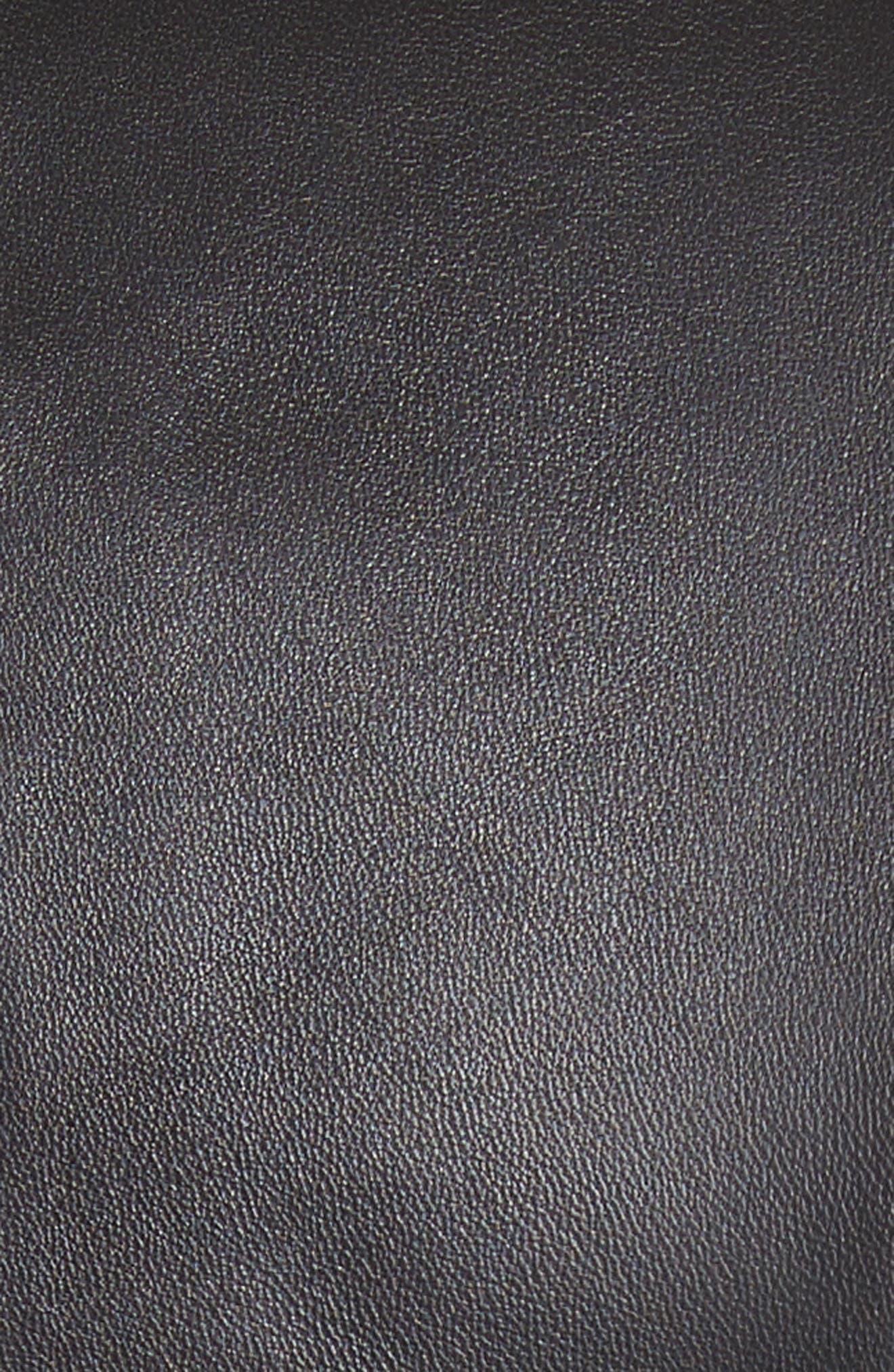 Plongé Leather Jacket,                             Alternate thumbnail 6, color,                             001