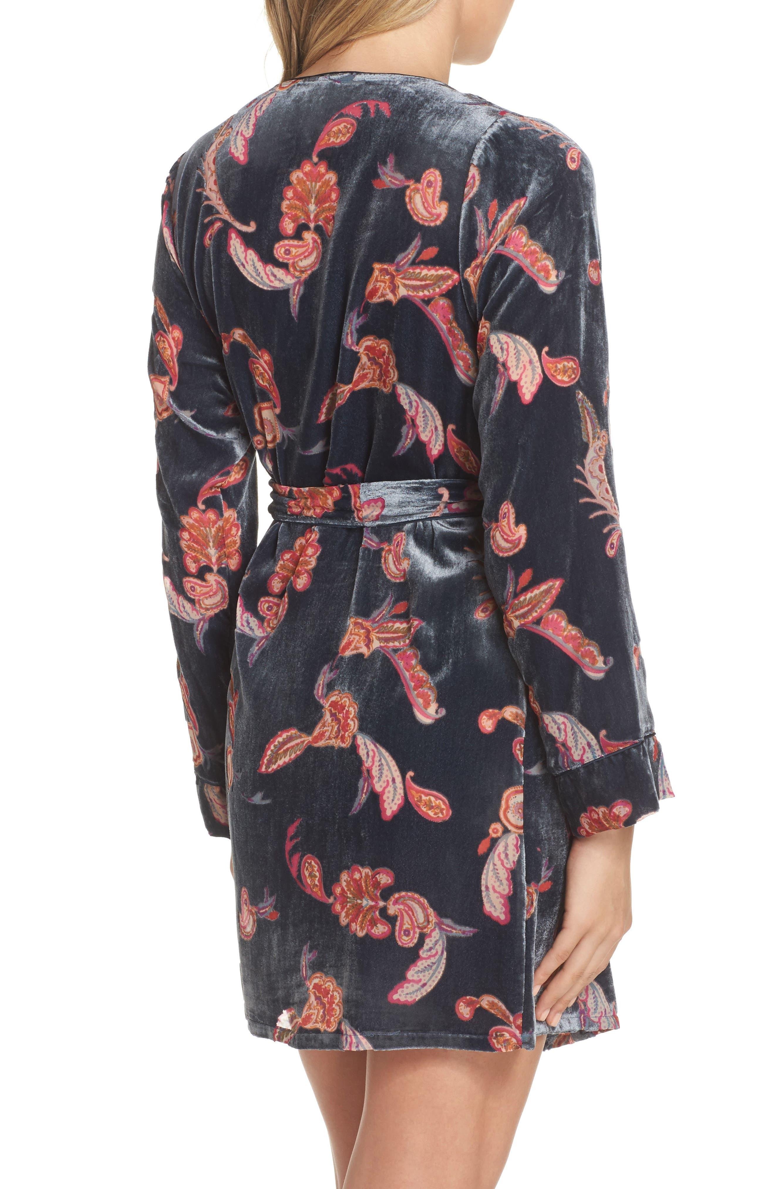 Velvet Short Robe,                             Alternate thumbnail 2, color,                             410