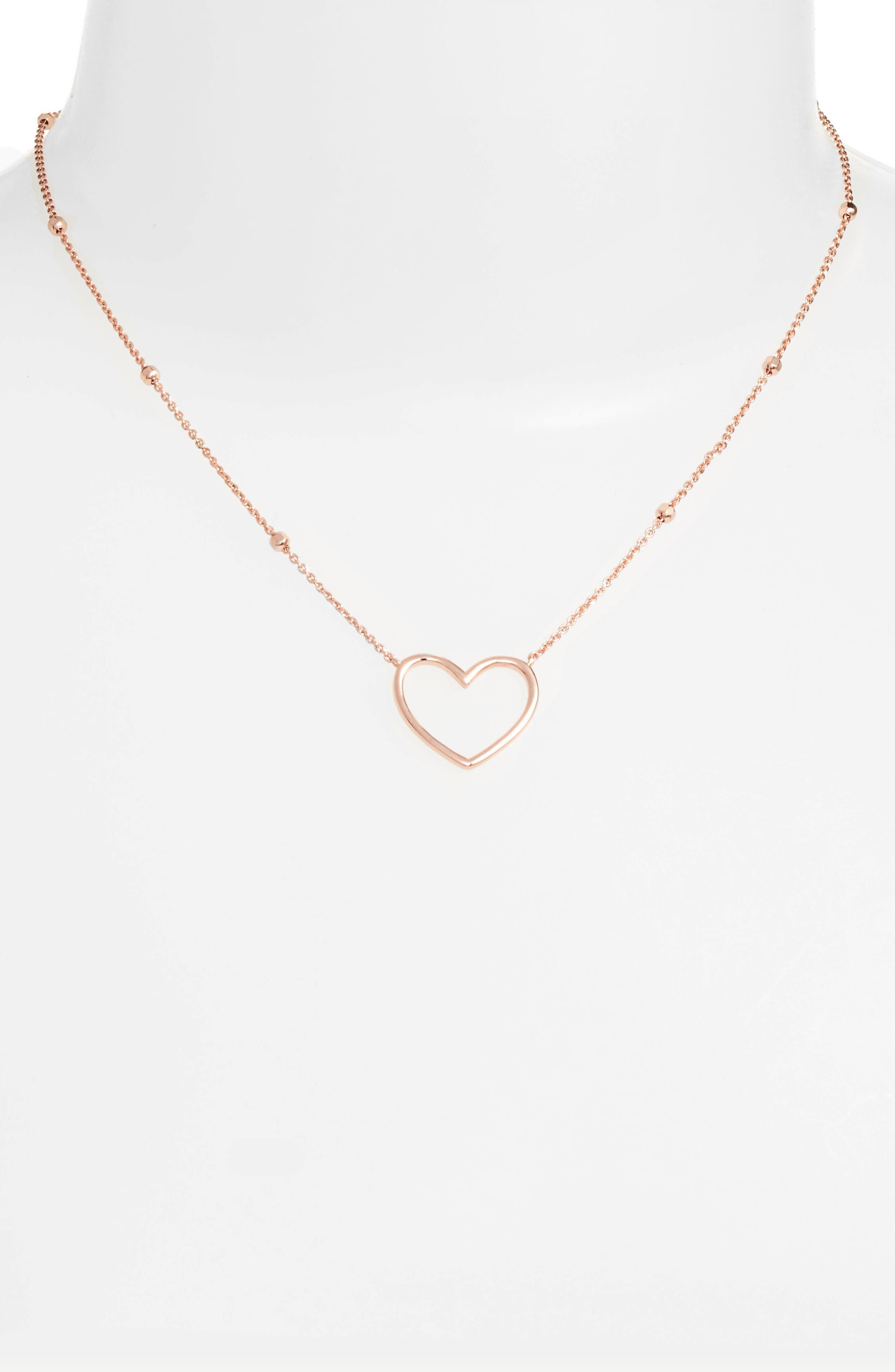 Heart Pendant Necklace,                             Alternate thumbnail 5, color,