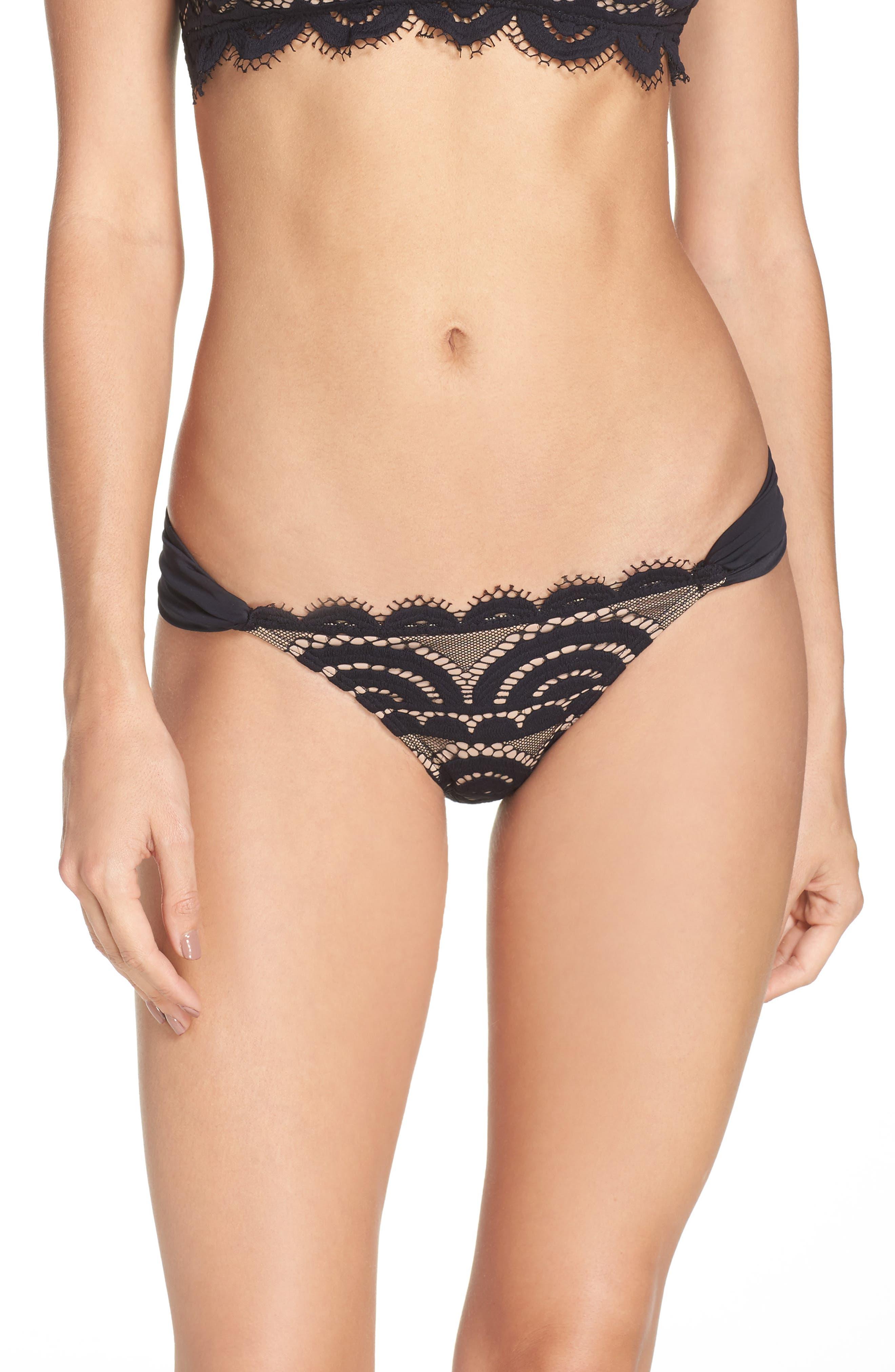 Lace Bikini Bottoms,                         Main,                         color, 001