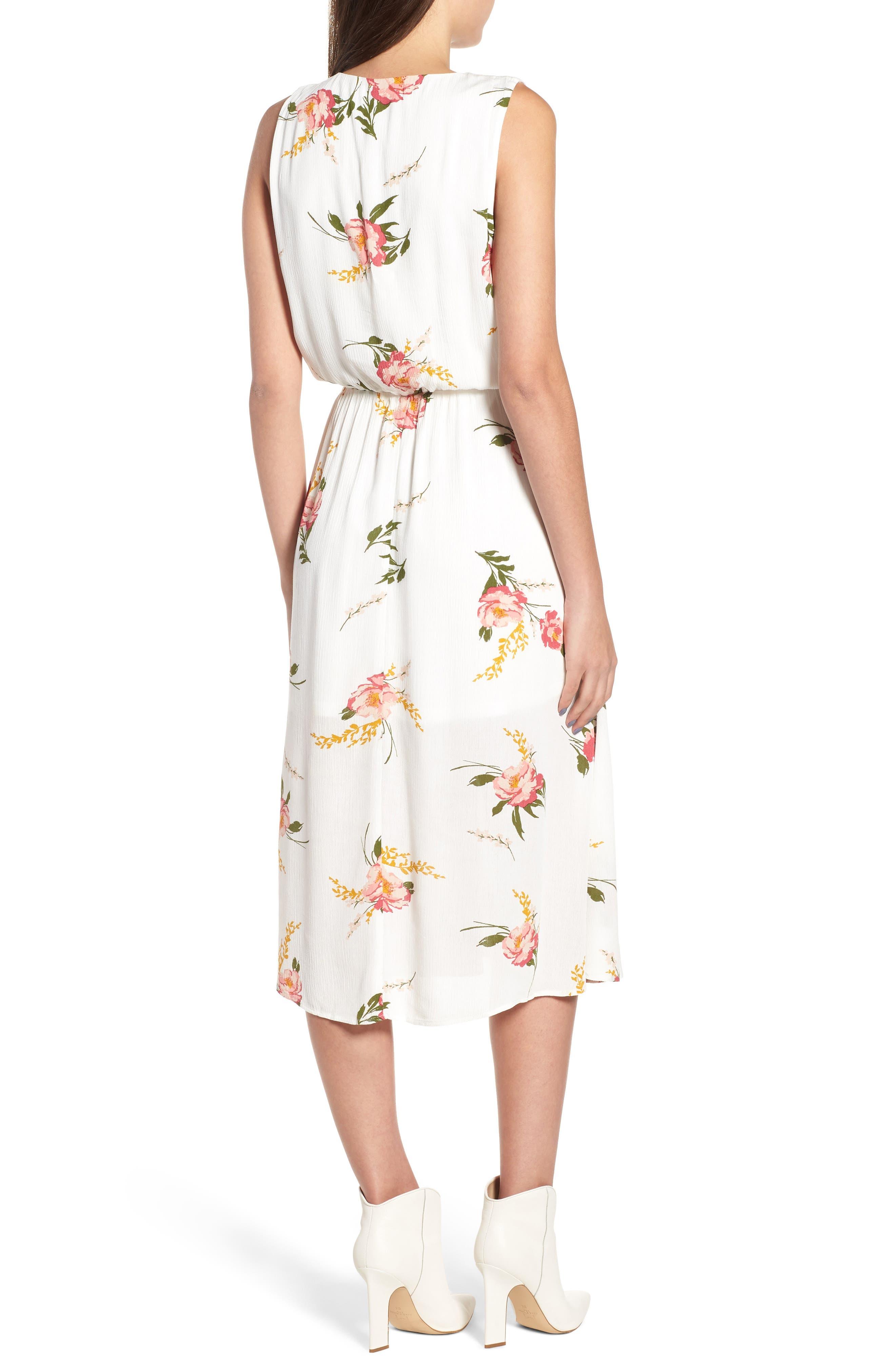 Sleeveless Blouson Midi Dress,                             Alternate thumbnail 2, color,                             900