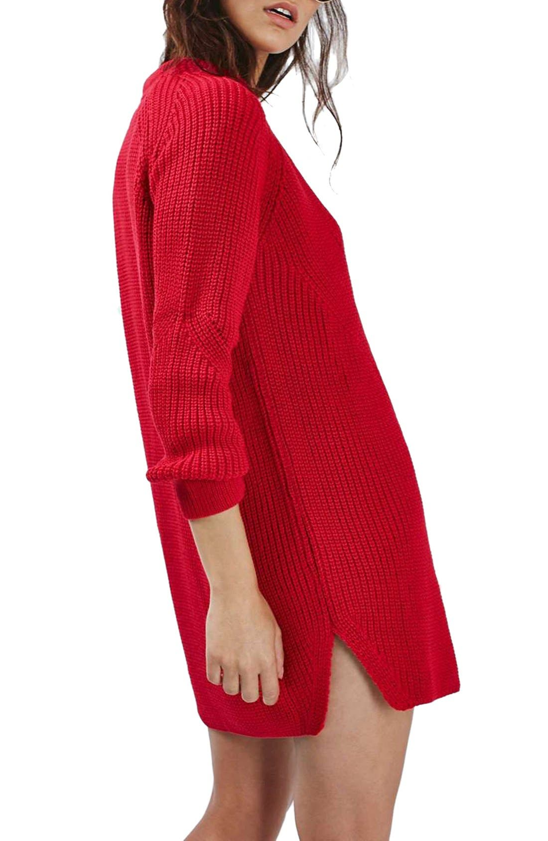 Ribbed Sweater Dress,                             Alternate thumbnail 3, color,                             600
