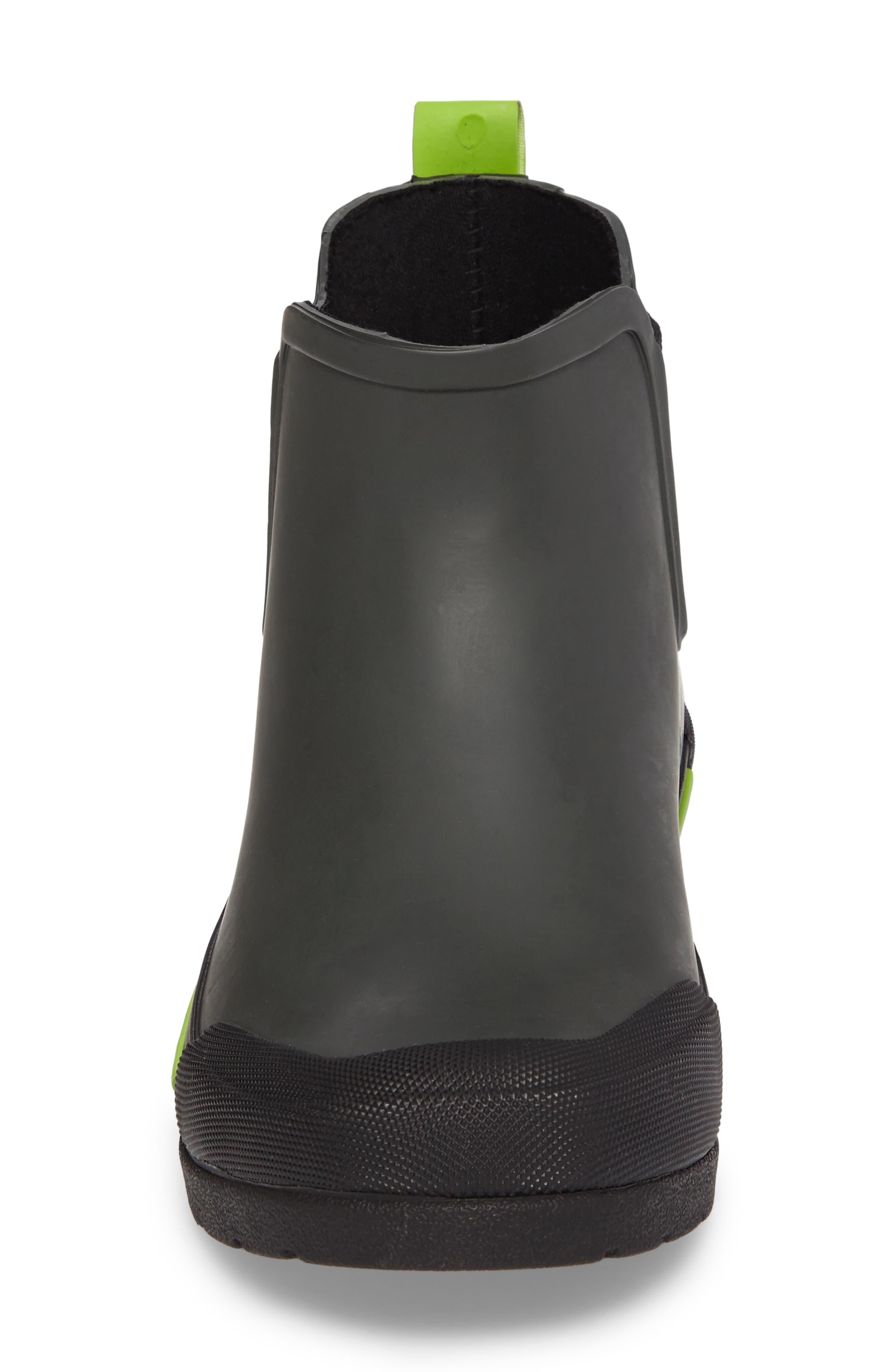 Classic Twin Gore Waterproof Rain Boot,                             Alternate thumbnail 4, color,                             CHARCOAL