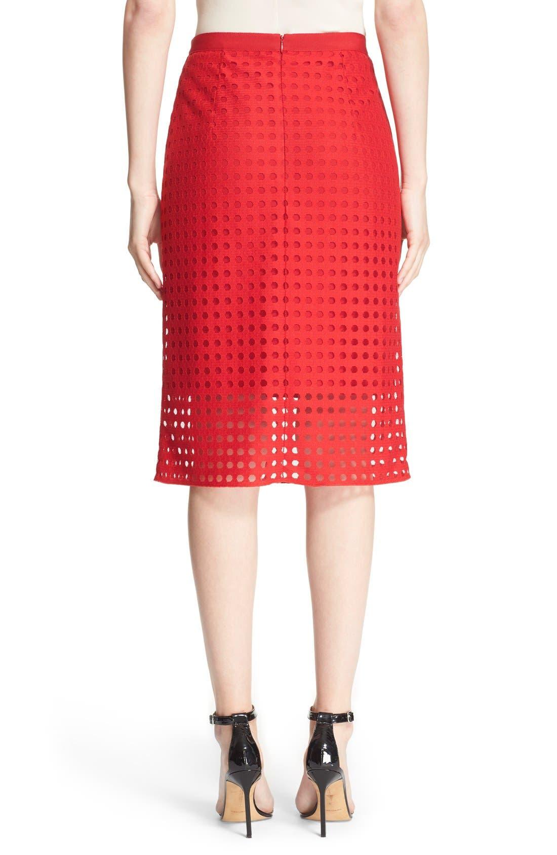 Mesh Pencil Skirt,                             Alternate thumbnail 4, color,                             600