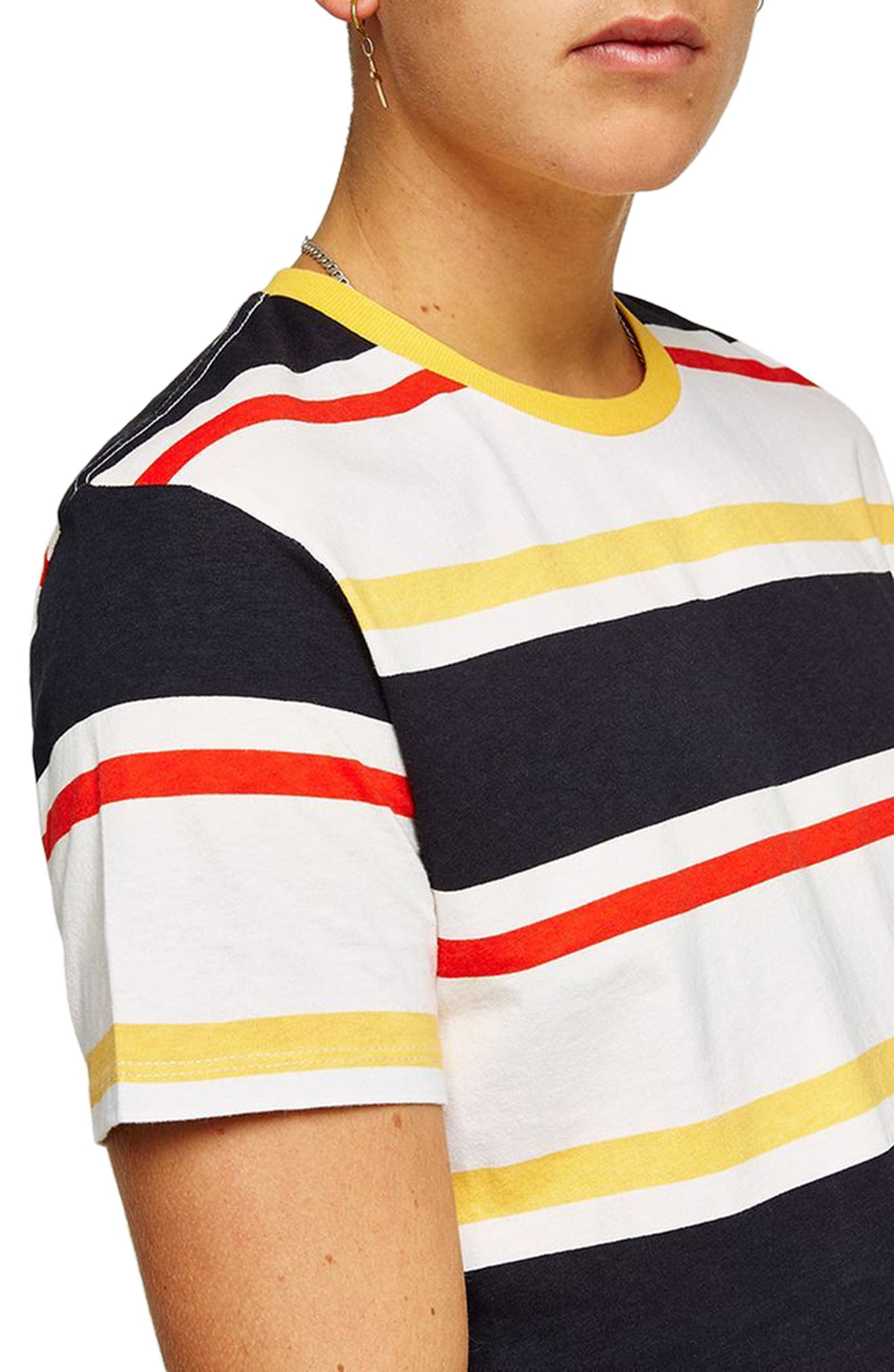 Slim Fit Stripe T-Shirt,                             Alternate thumbnail 3, color,                             700