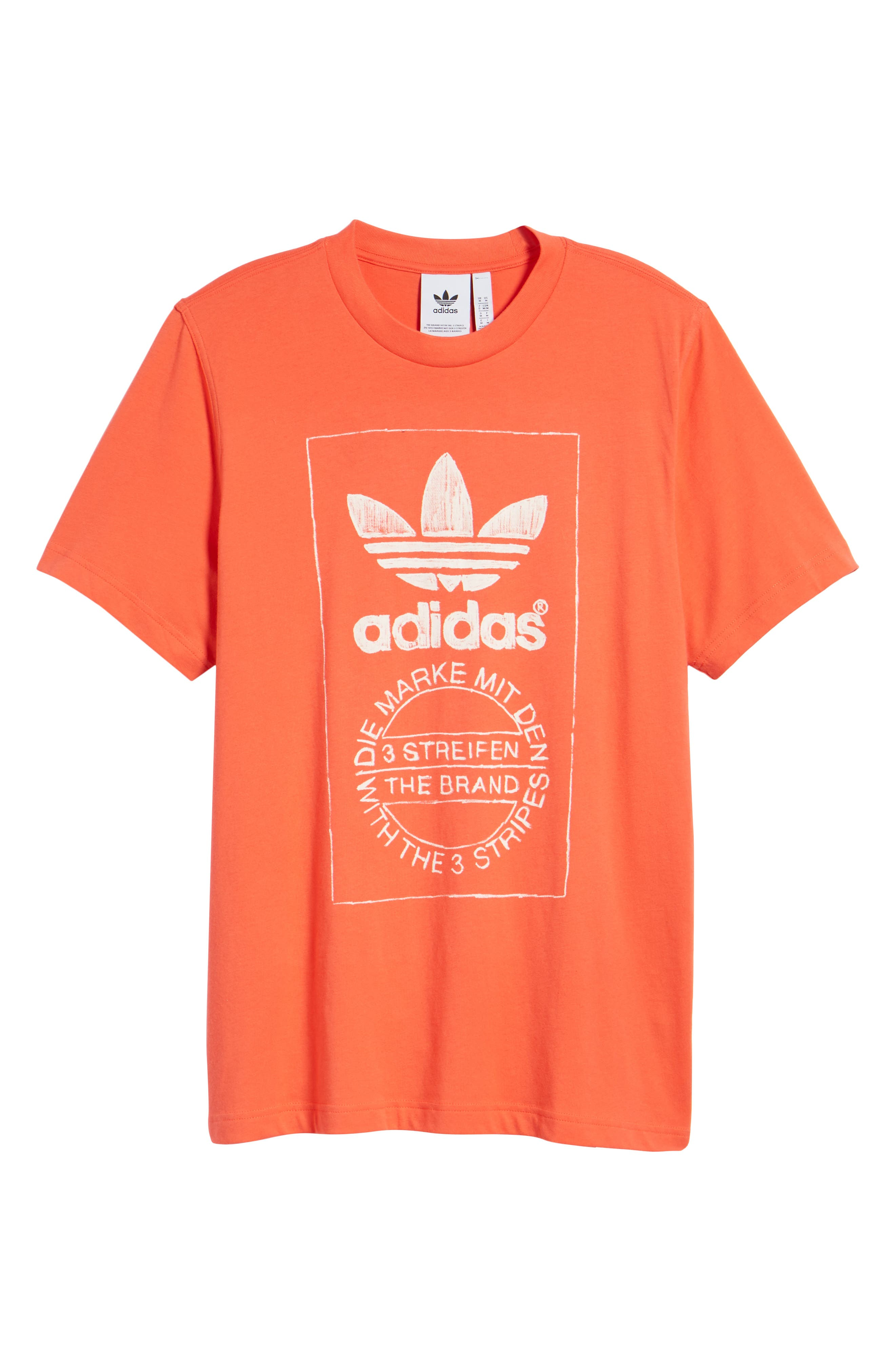 ADIDAS ORIGINALS,                             Hand Drawn Logo T-Shirt,                             Alternate thumbnail 6, color,                             600
